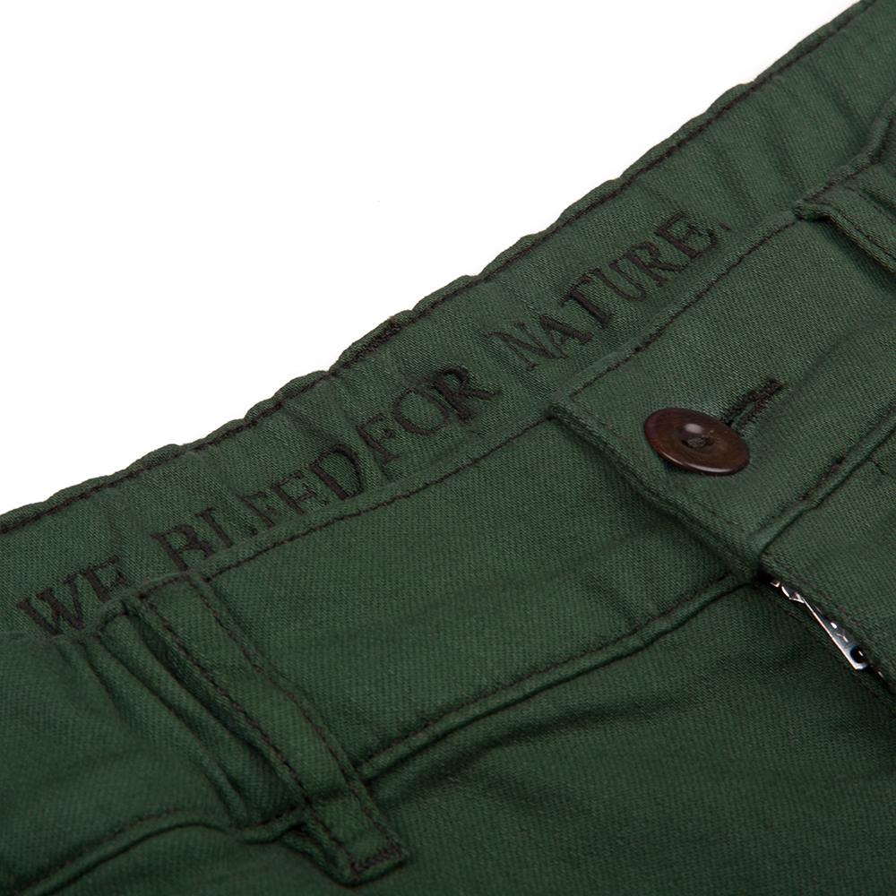 cuffed pants, dunkelgrün, herren - bleed