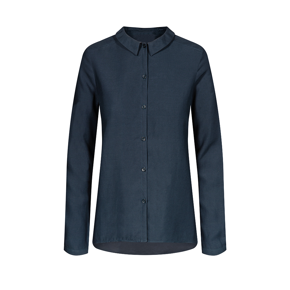 tencel bluse, navy, damen - bleed