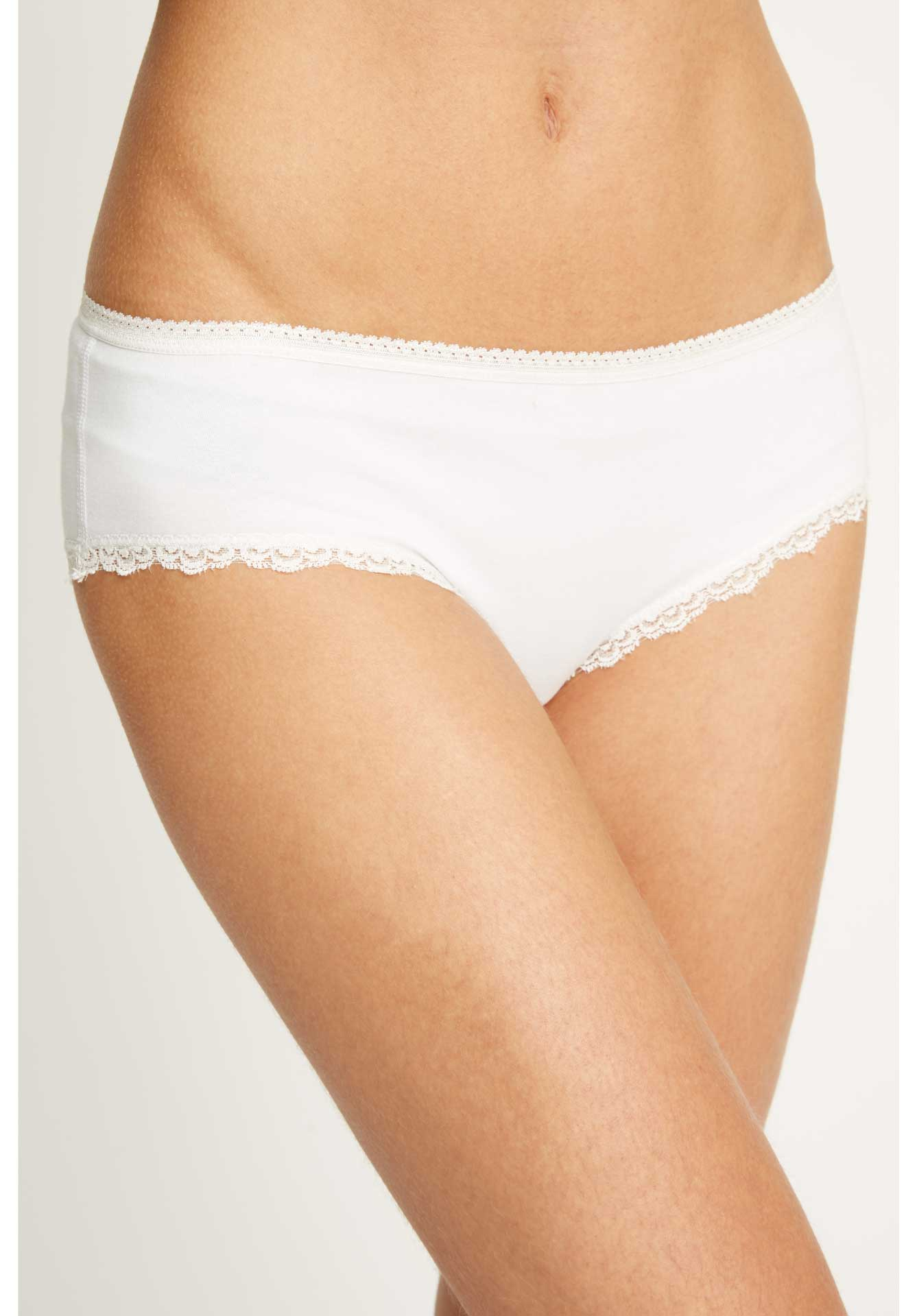 lace hipster, white, damen - people tree