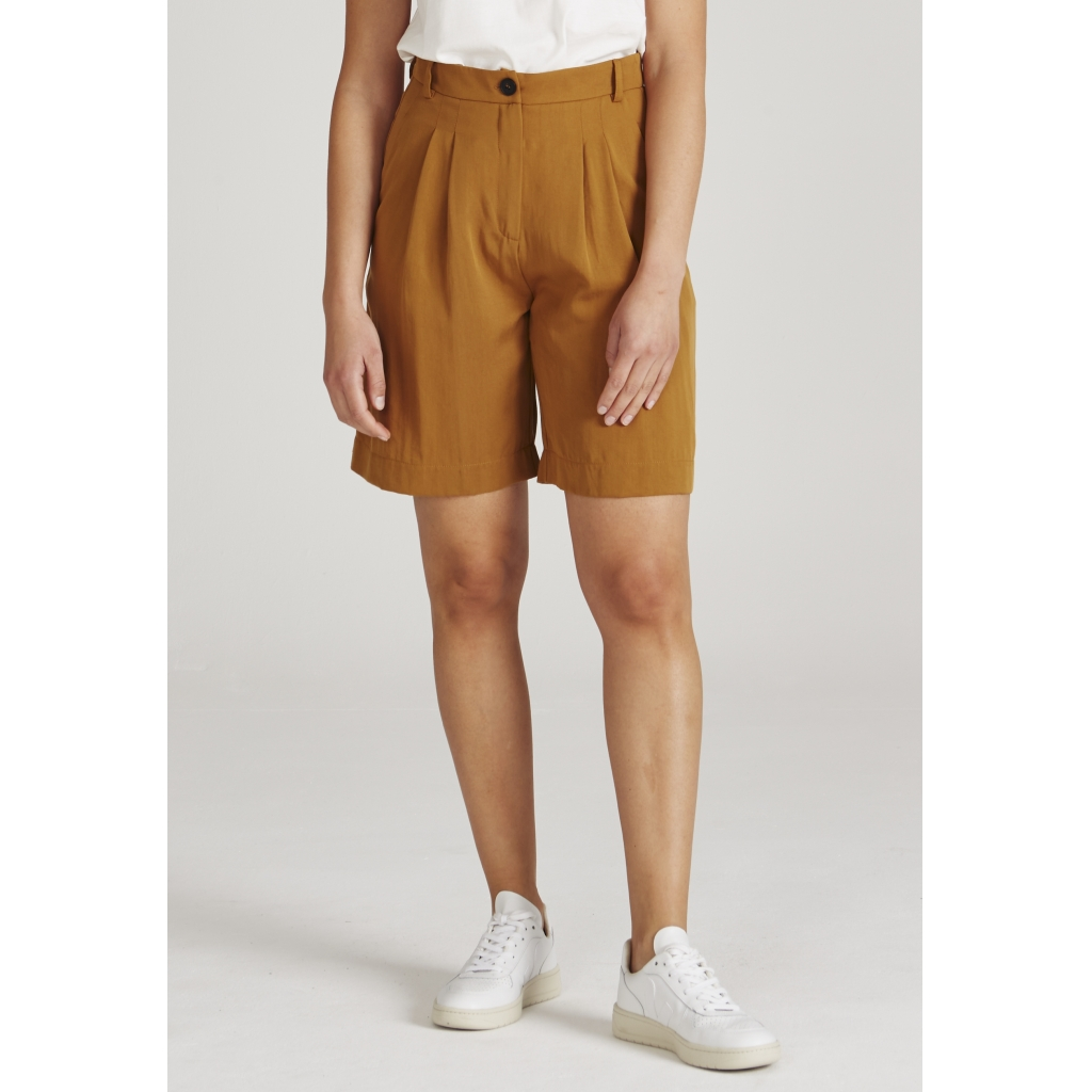 petra shorts, rubber brown, damen - givn