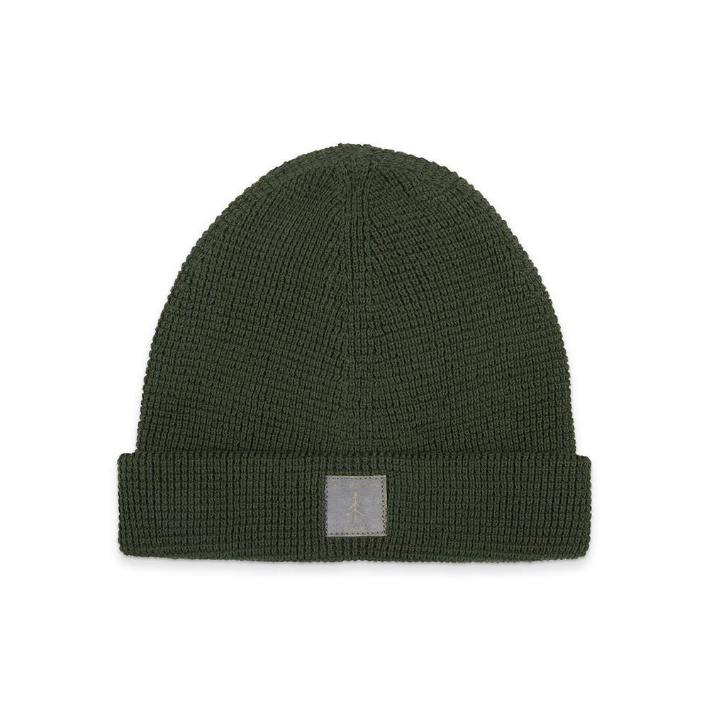 eco beanie, dark green, light-weight - bleed