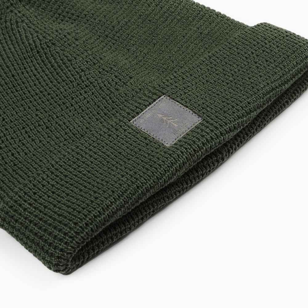 eco beanie, dark green, light-weight - bleed