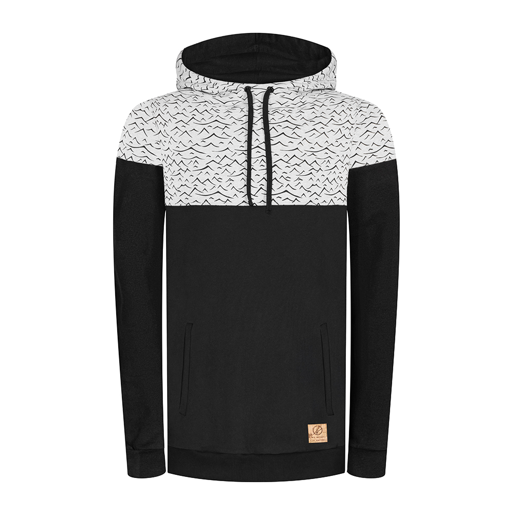 mountain&waves hoody, herren - bleed
