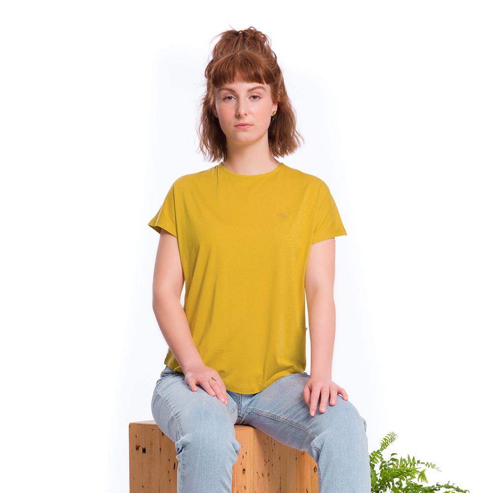 bumbletee shirt, mustard, forestfibre, damen - bleed