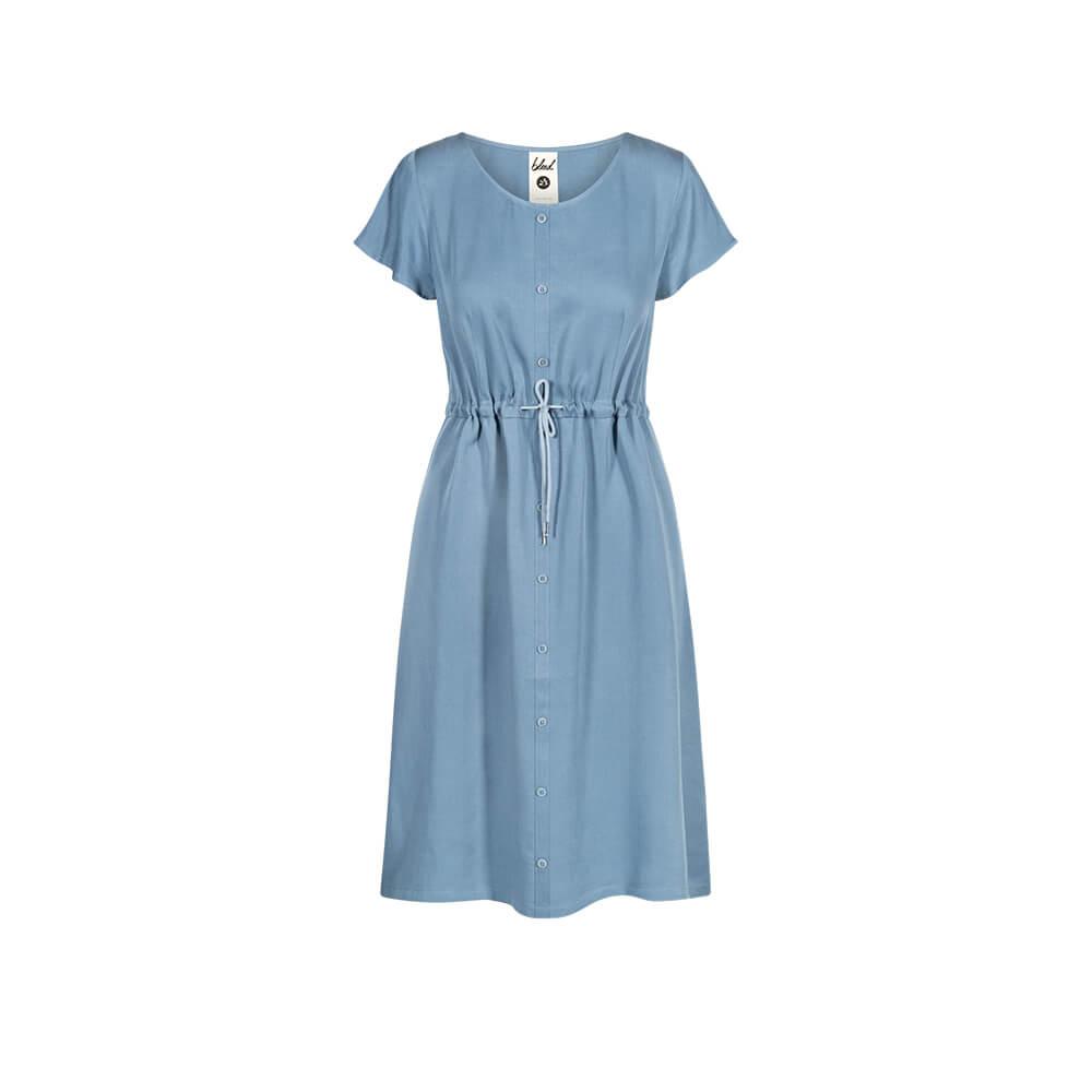 light-breeze buttoned tencel kleid blau, damen - bleed