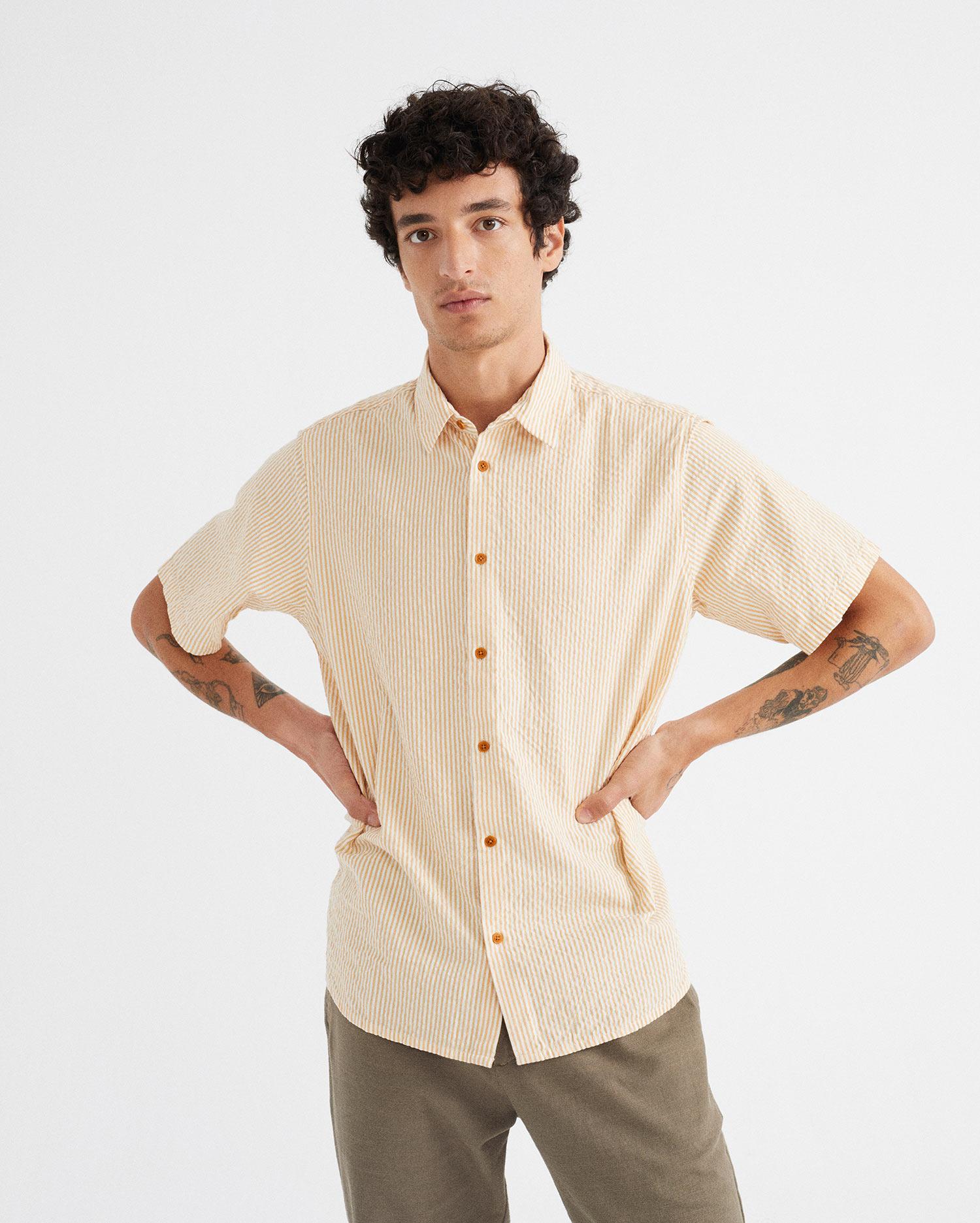 seersucker tom shirt, herren - thinking mu