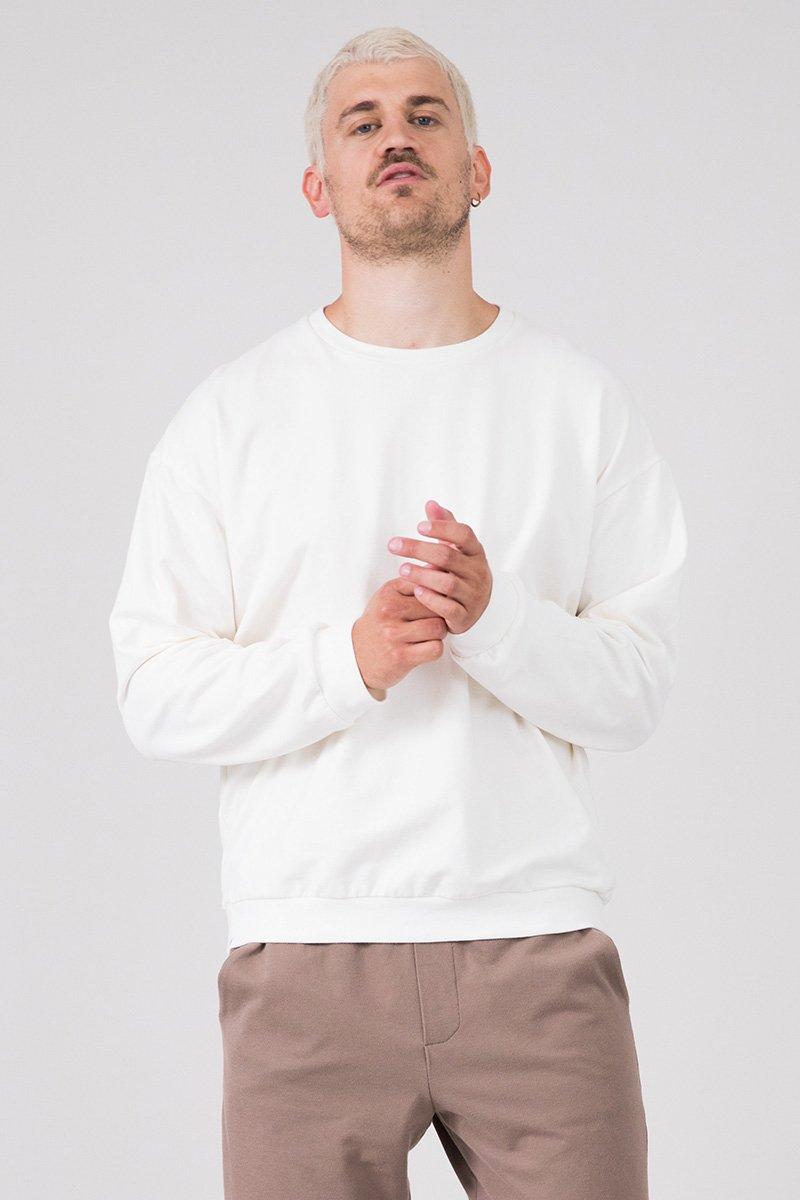 unisex sweater abado, weiss - eyd