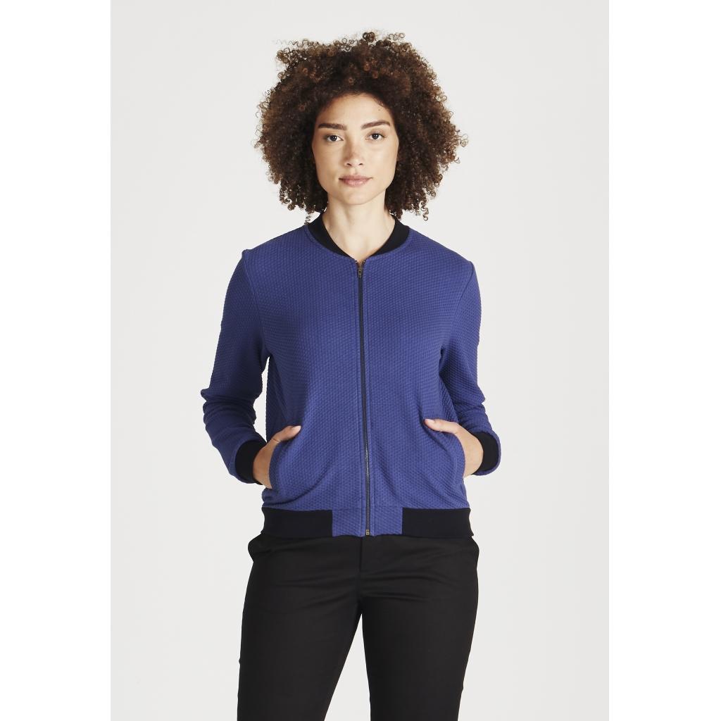 ella jacket, navy blue (waffle), damen - givn