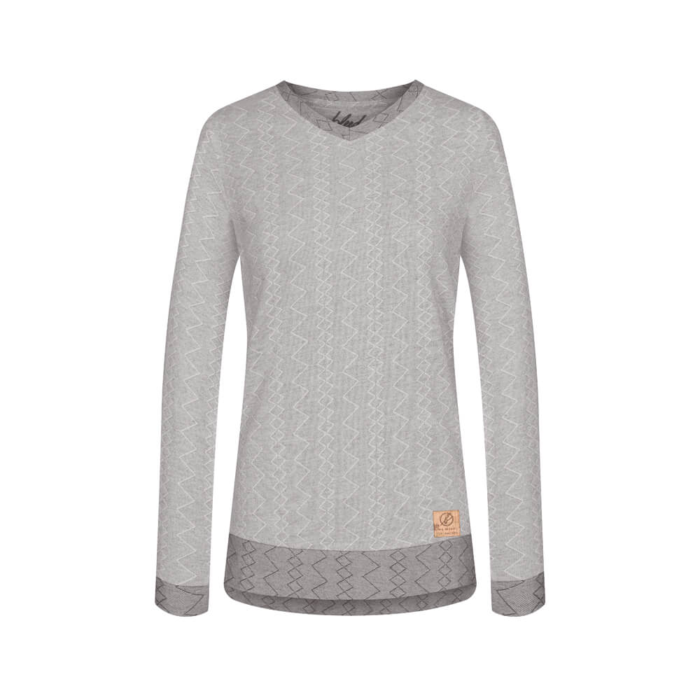 jacquard sweater, damen - bleed