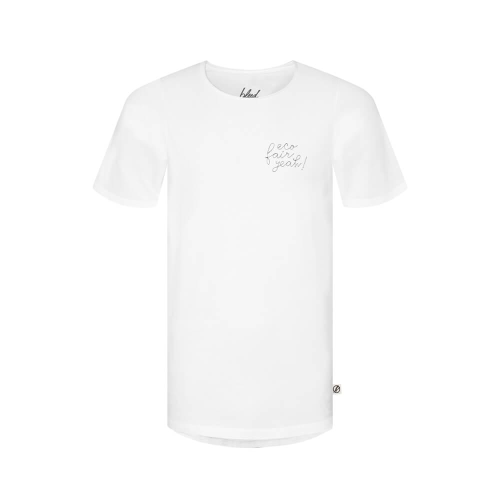 eco fair yeah, shirt, weiss, herren - bleed