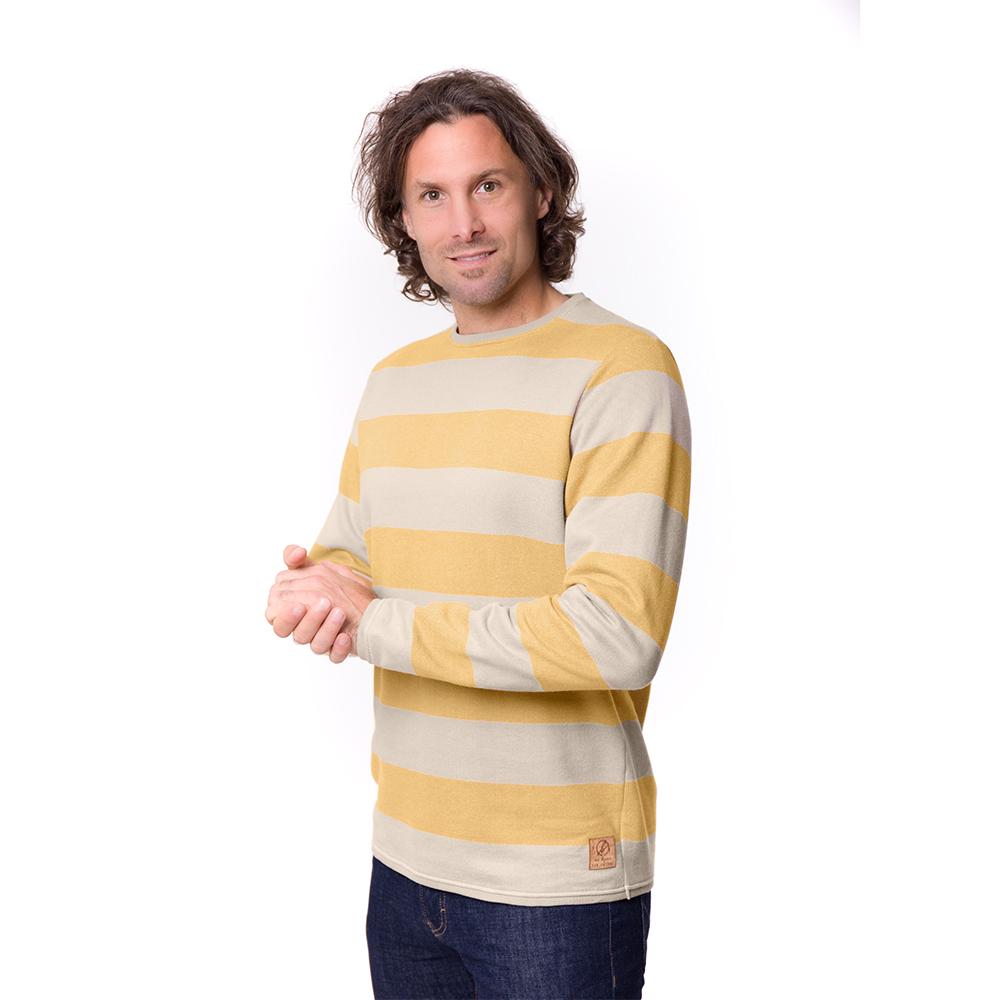 captains sweater, gelb, herren - bleed