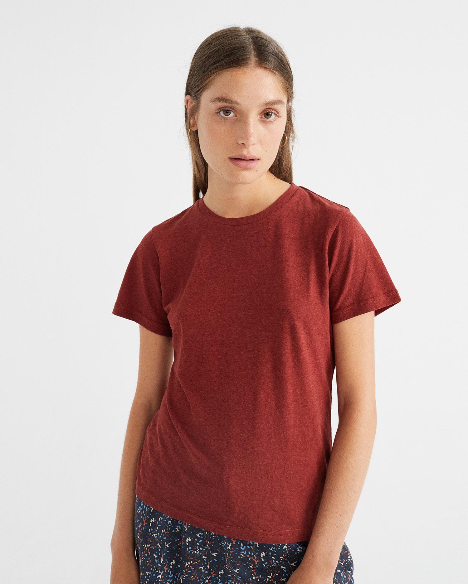 teja hemp juno t-shirt, damen - thinking mu