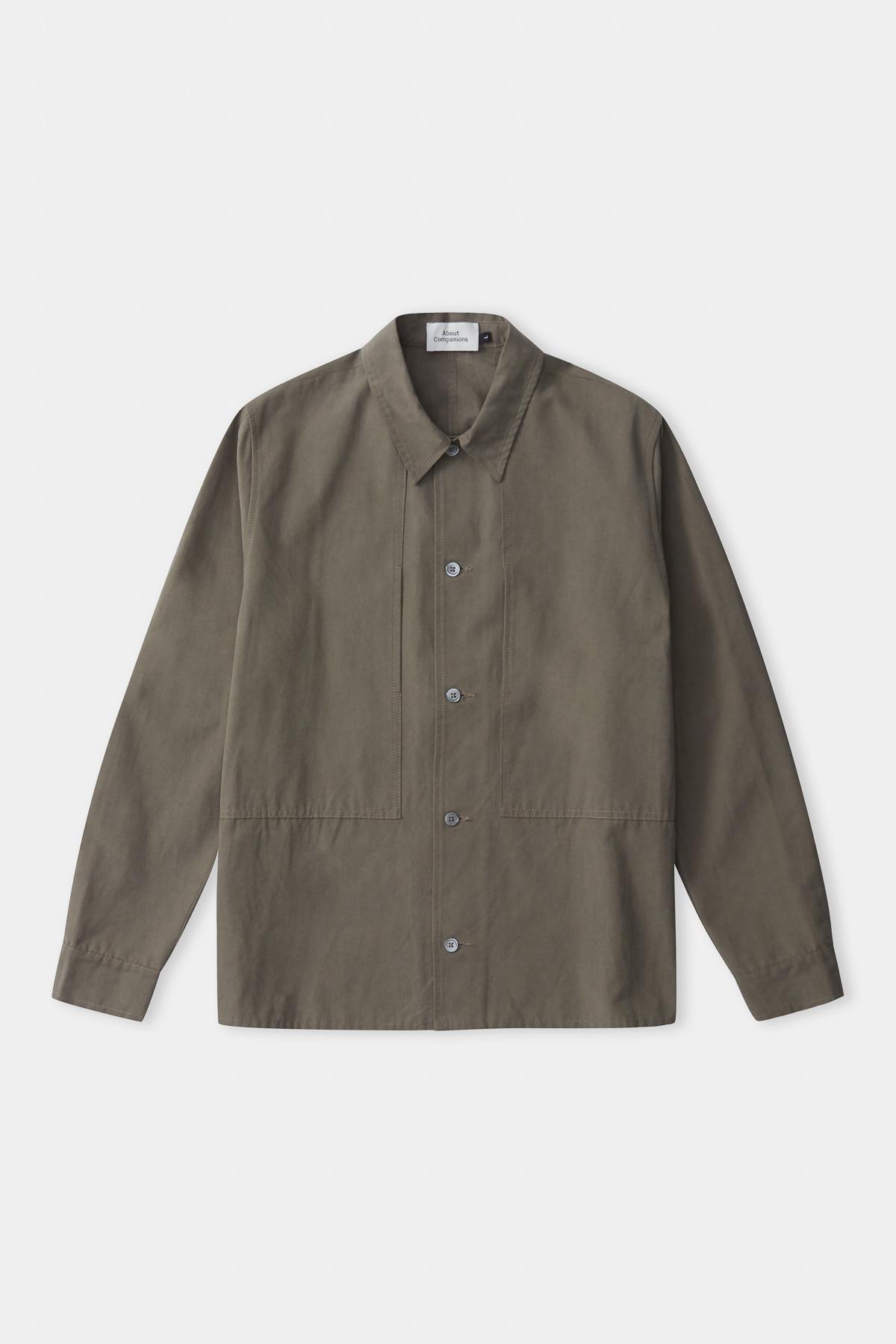 owe overshirt tencel, dusty olive, herren - aco