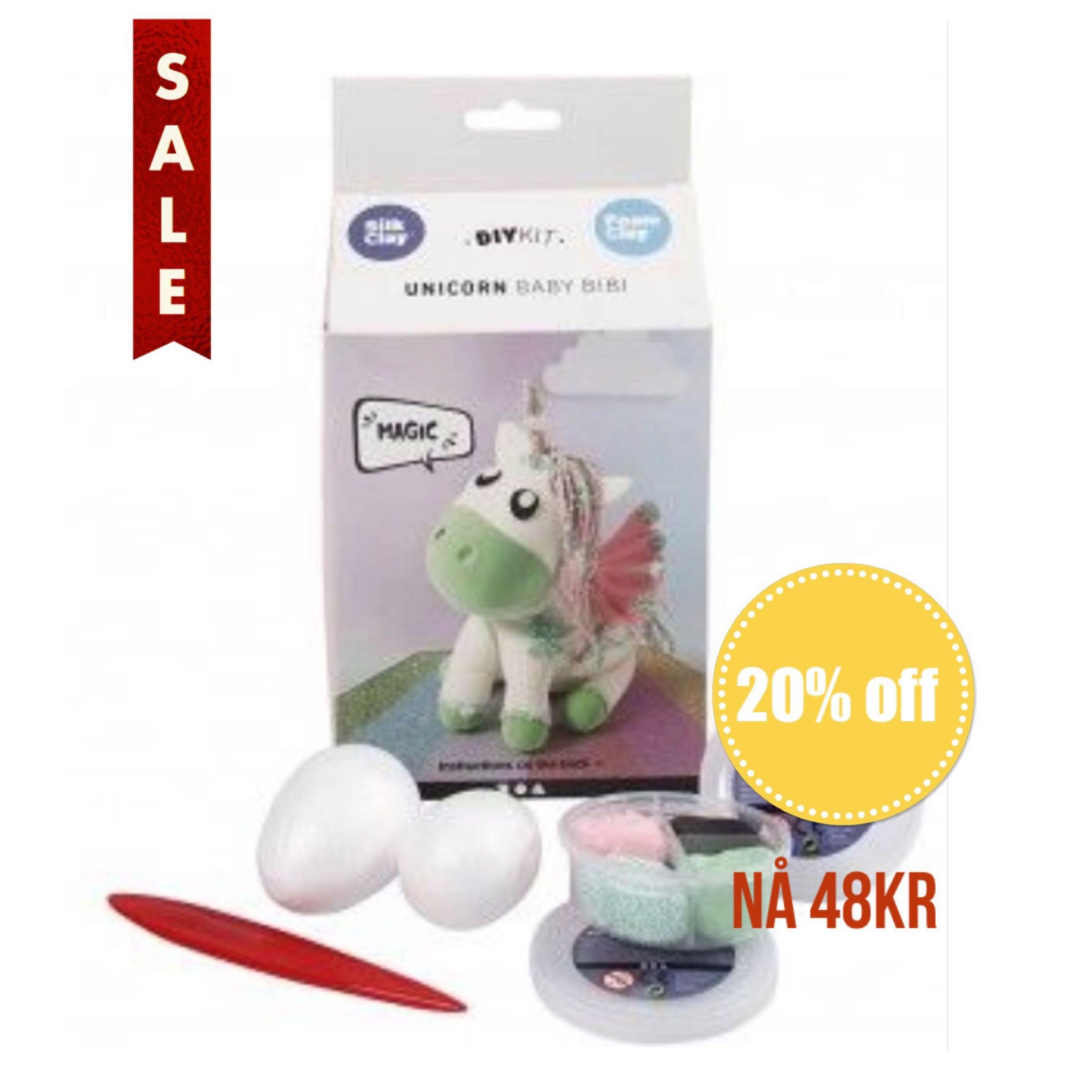 Foam Clay Unicorn Baby Bibi DIY Kit