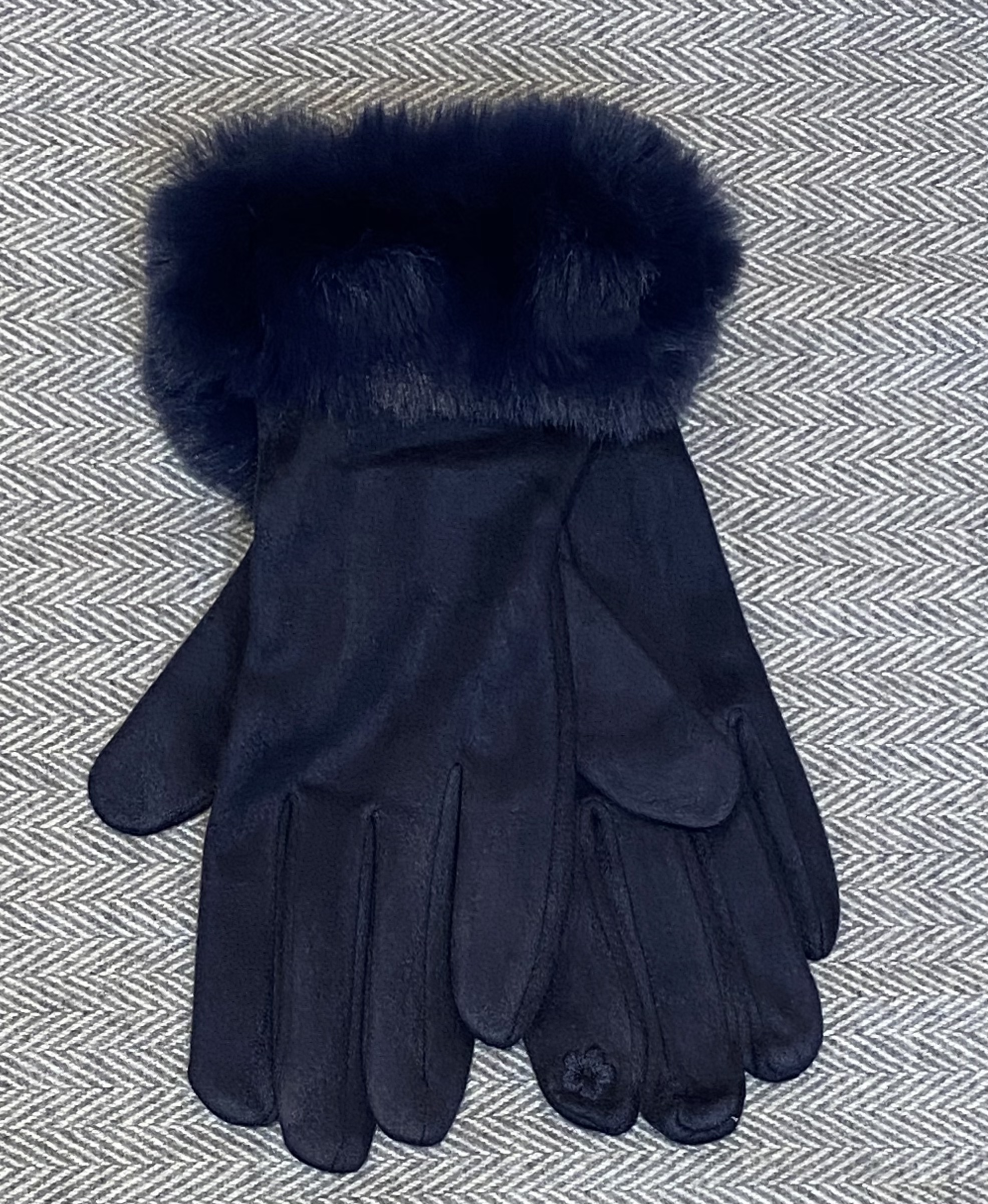 Gloves faux fur trim gloves - Available in 3 Colours