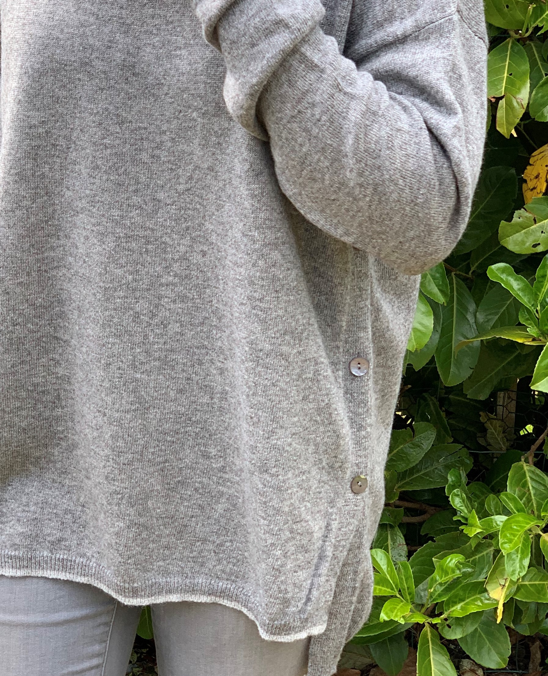 Park Lane jumper with side buttons