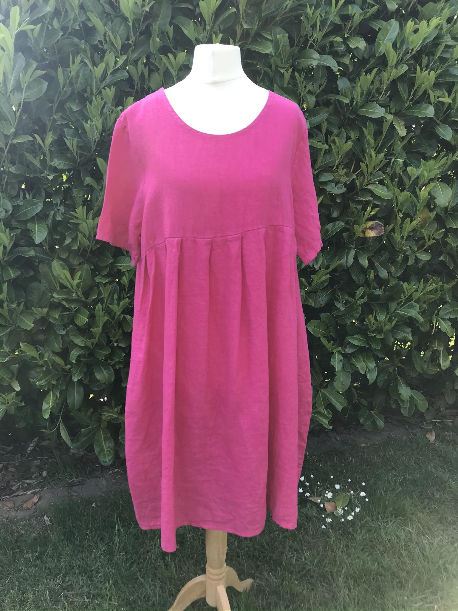 Joss linen smock dress
