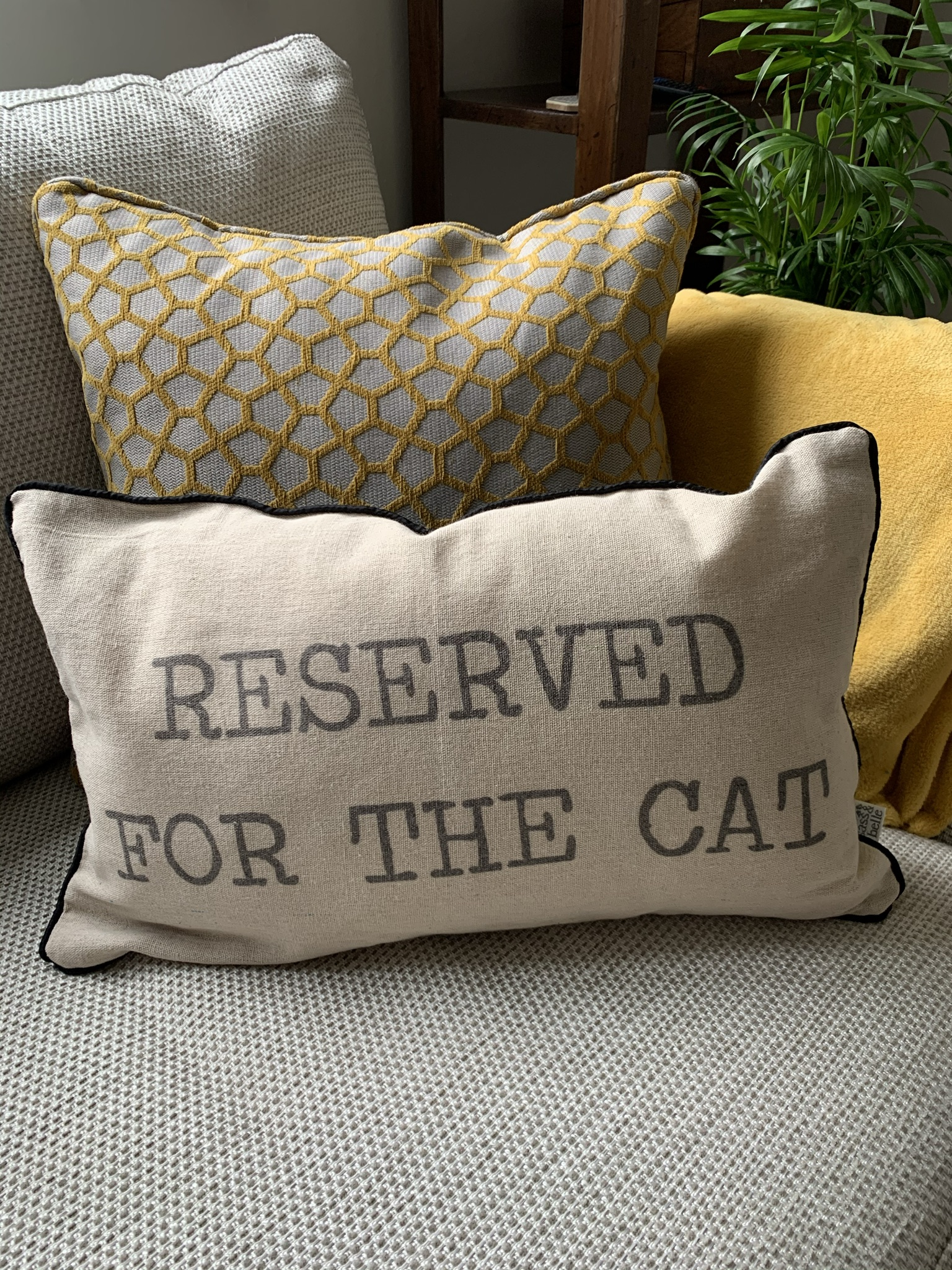 'Reserved for ...' Cushion