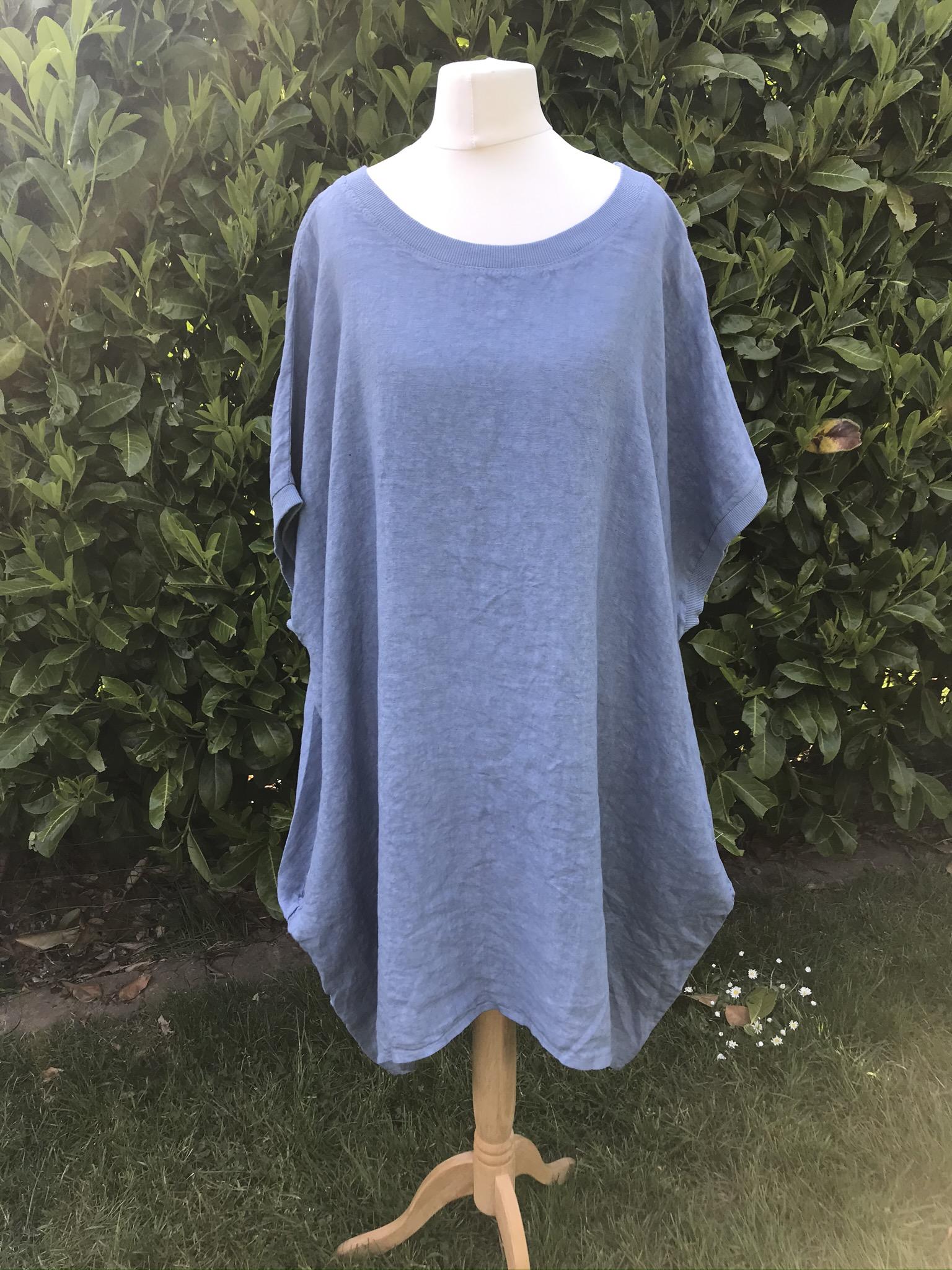 Joss big linen t -shirt dress