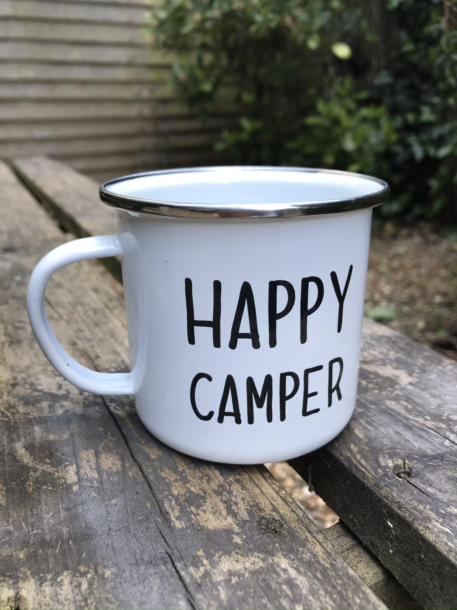 Sass & belle happy camper enamel mug