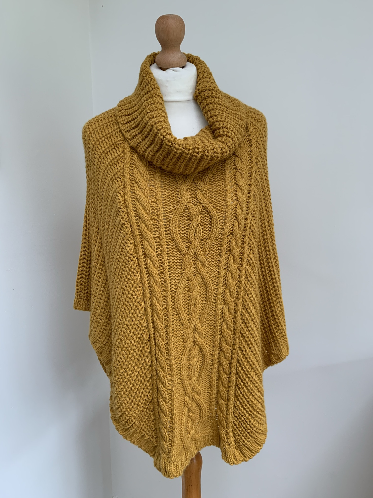 Chunky Knit Poncho  - Available in 2 Colours