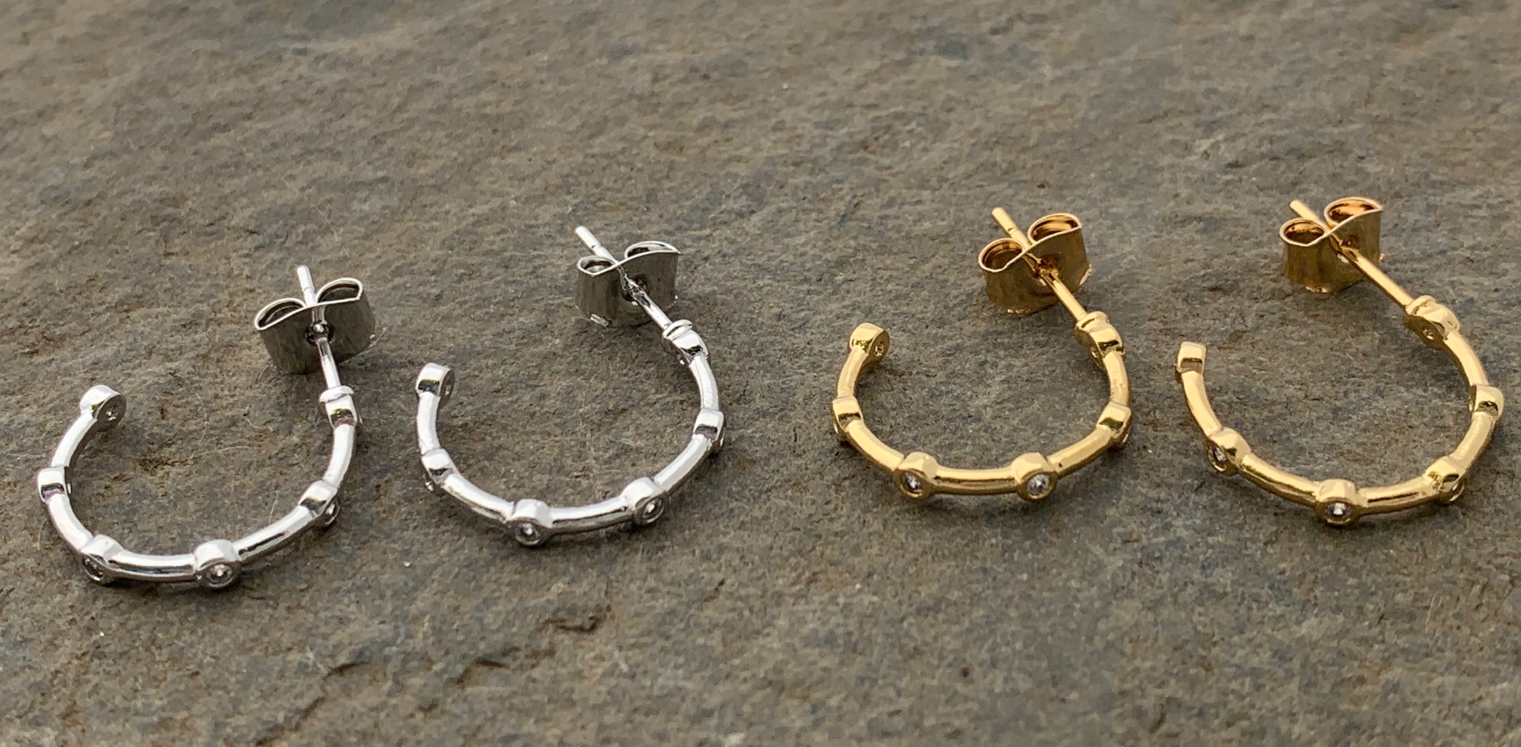 Hoop earrings gold plated or silver
