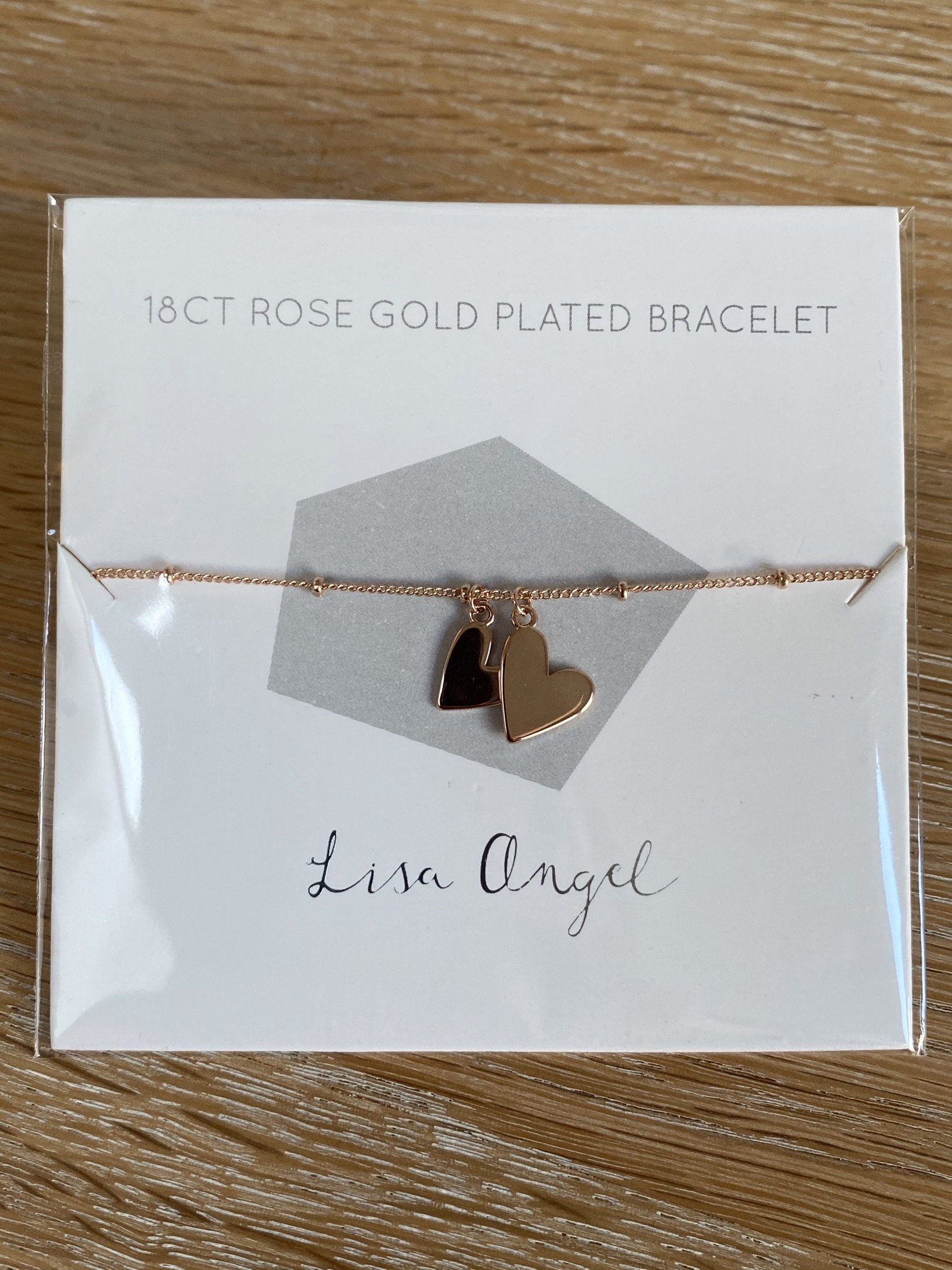 Lisa Angel Double Heart Bracelet