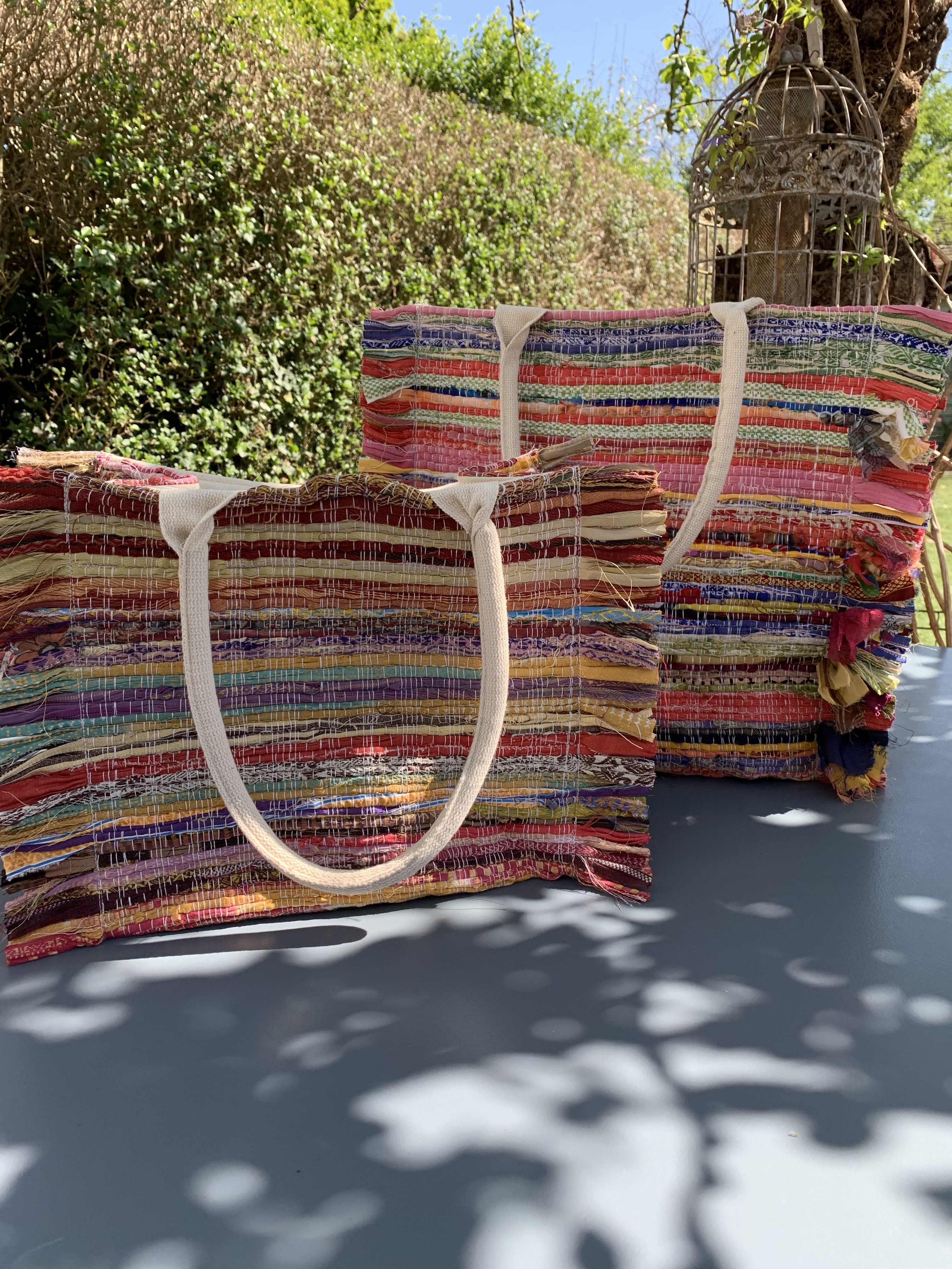 Recycled sari bags Large and small