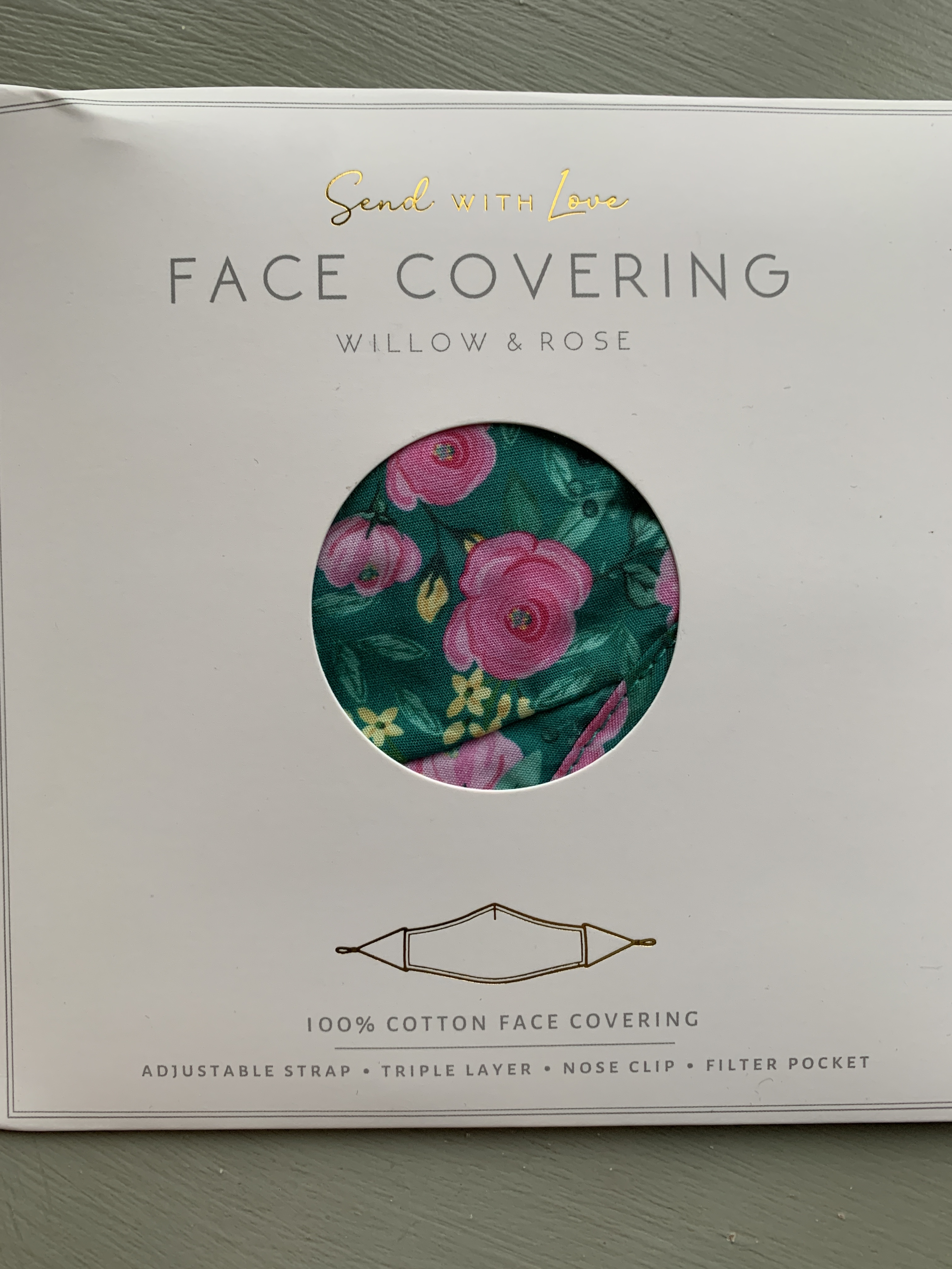 Face Masks with adjustable strap - Available in 3 Designs