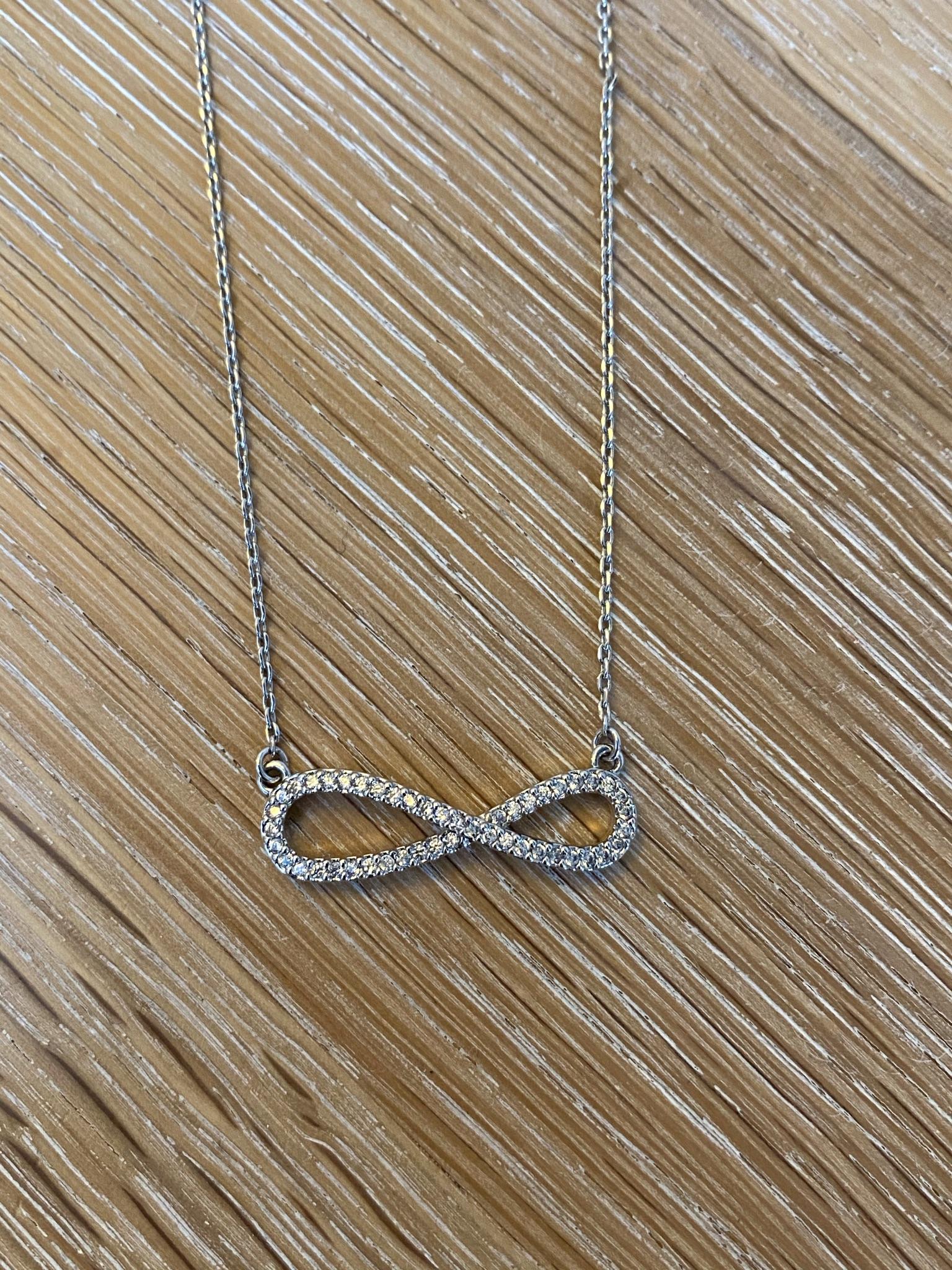 Diamanté Infinity Pendant Necklace