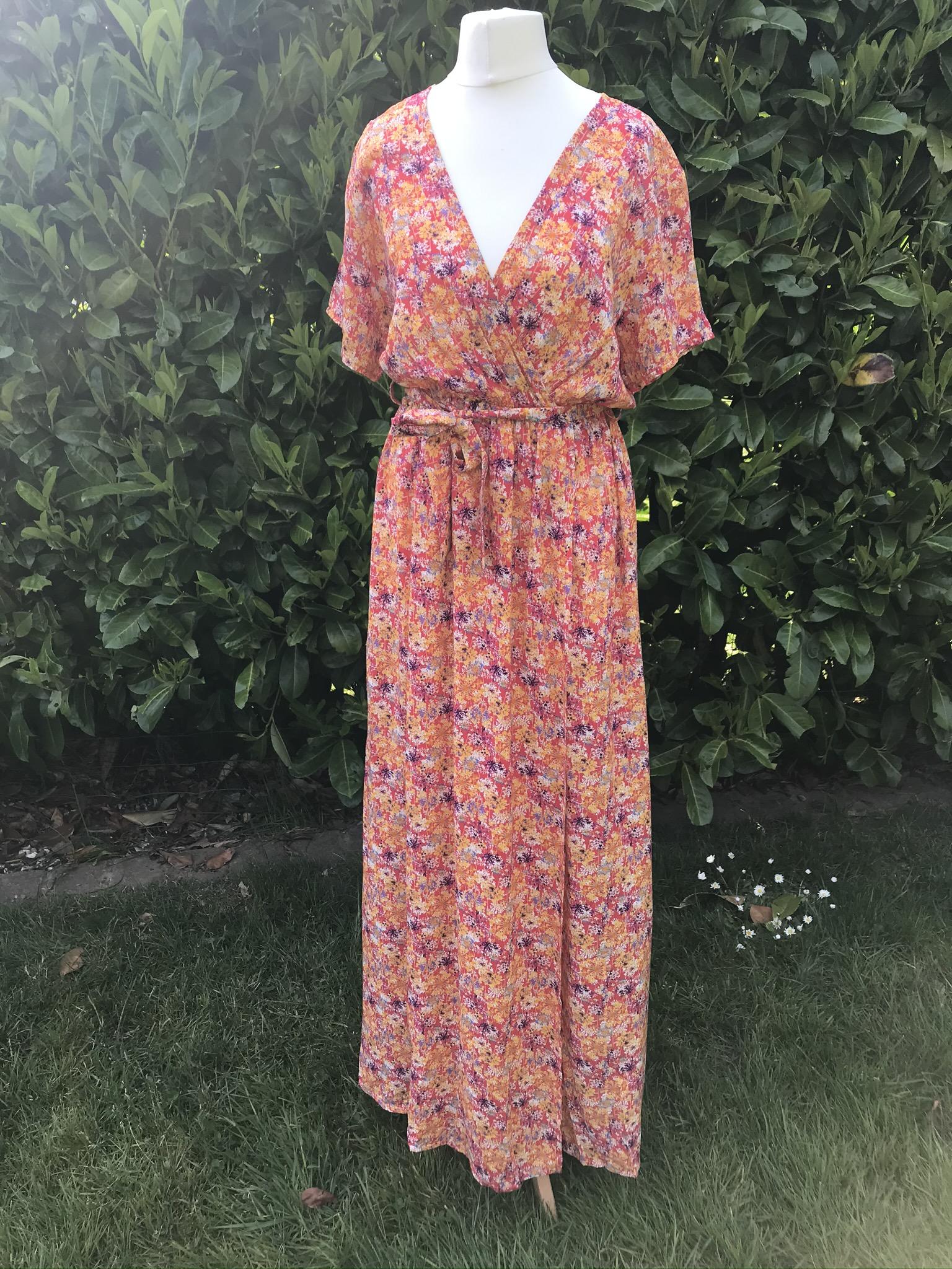 MSH long wrap dress dandelion print