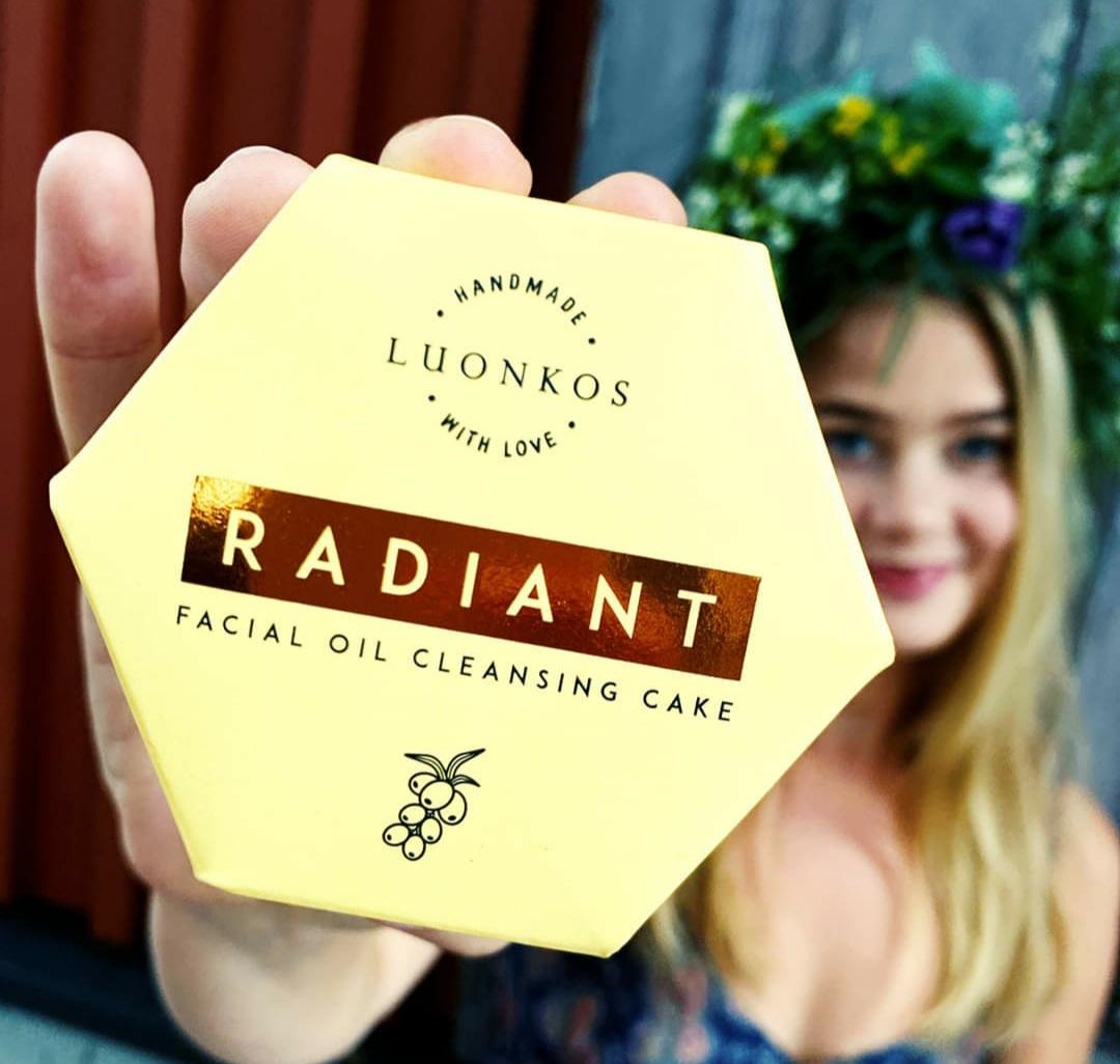 Luonkos Radiant - Öljypuhdistuskakku kasvoille, kaikki ihotyypit