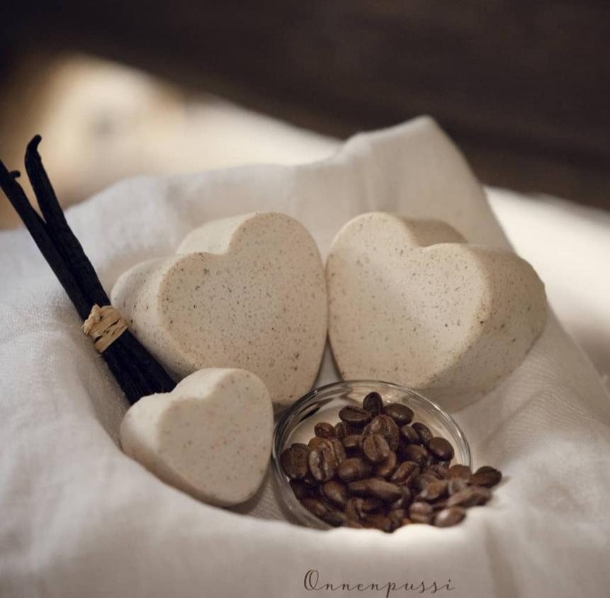 Onnenpussi Vaniljakahvi suolasaippua