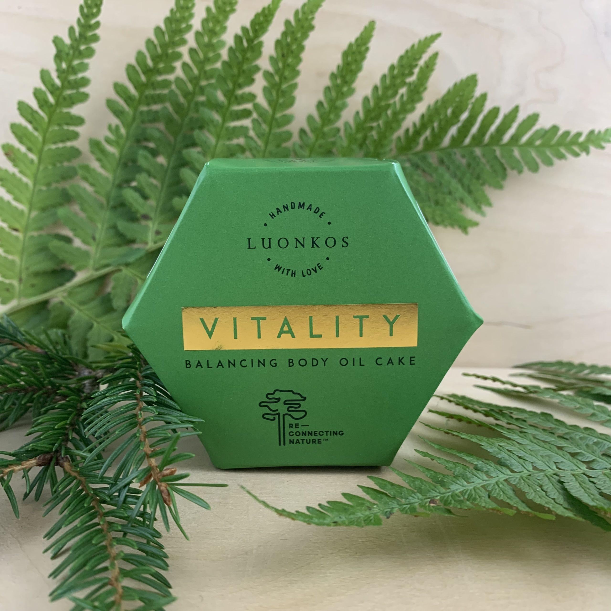 SUPERTARJOUS -30% Luonkos Vitality -metsävartalokakku, kaikki ihotyypit