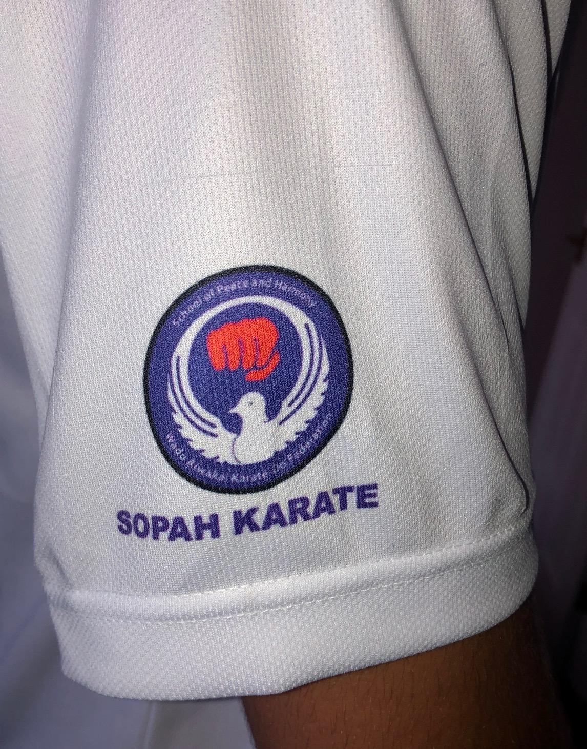 SOPAHKARATE-004 WHITE COOL T-SHIRT