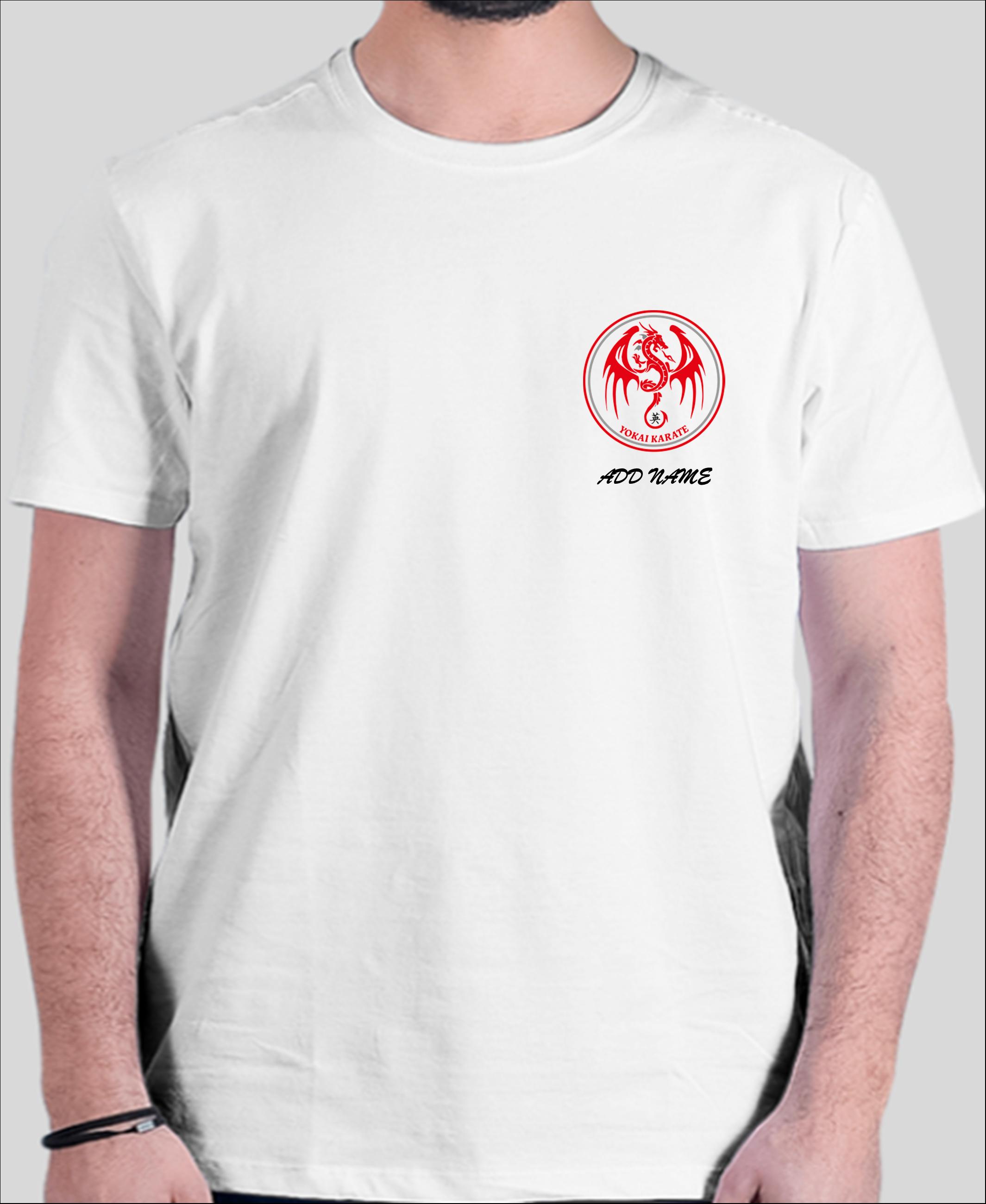 Yokai Karate-002 T-Shirt cool white training.