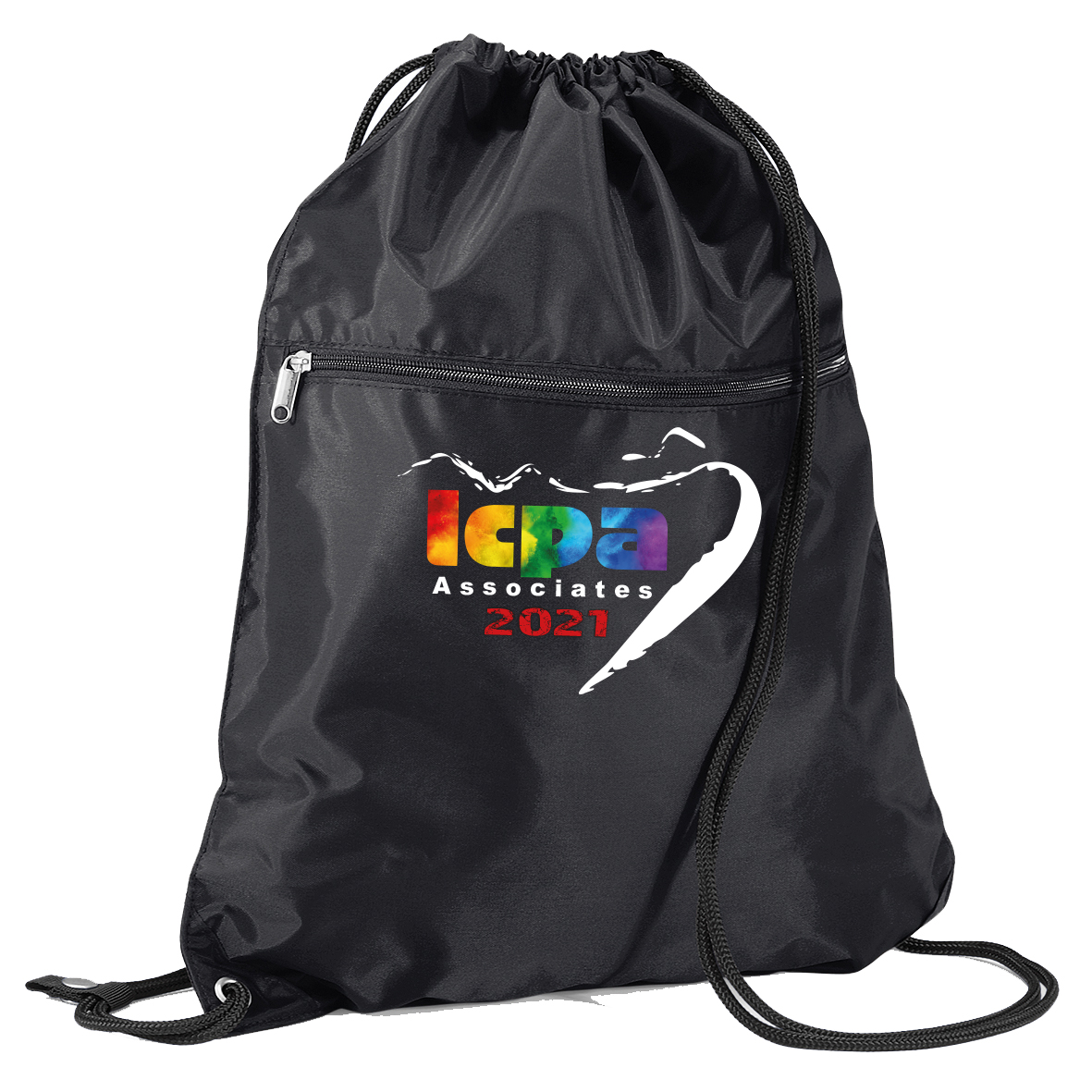 LCPA Associate-001 Pull cord Kit Bag with zip pocket