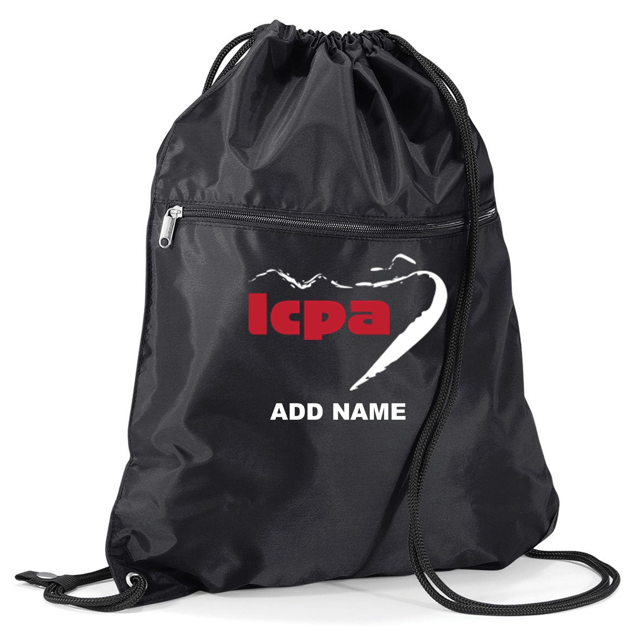 LCPA-015 PREMIUM SHOWERPROOF ZIPPED PULL CORD GYM BAG