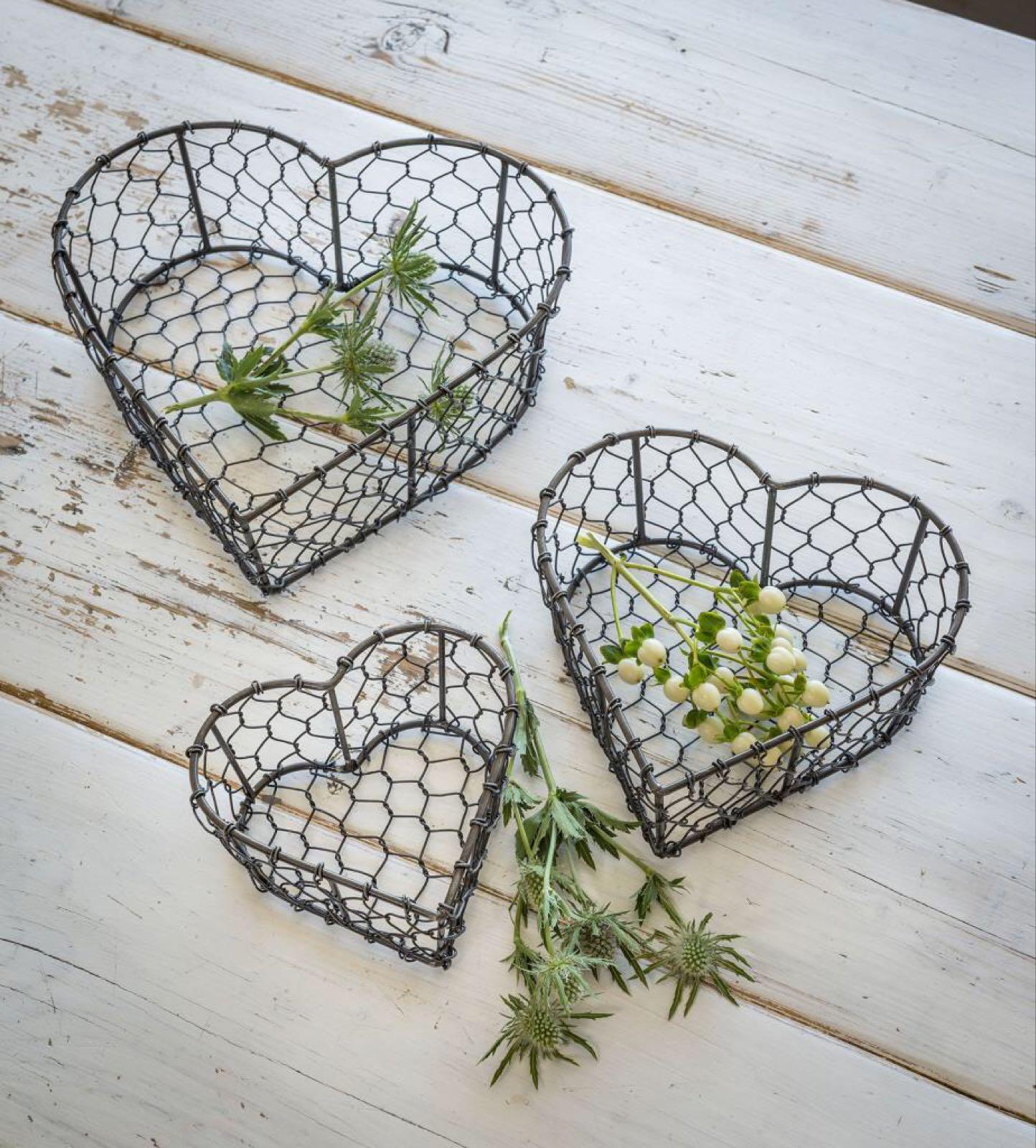 Heart wire Baskets