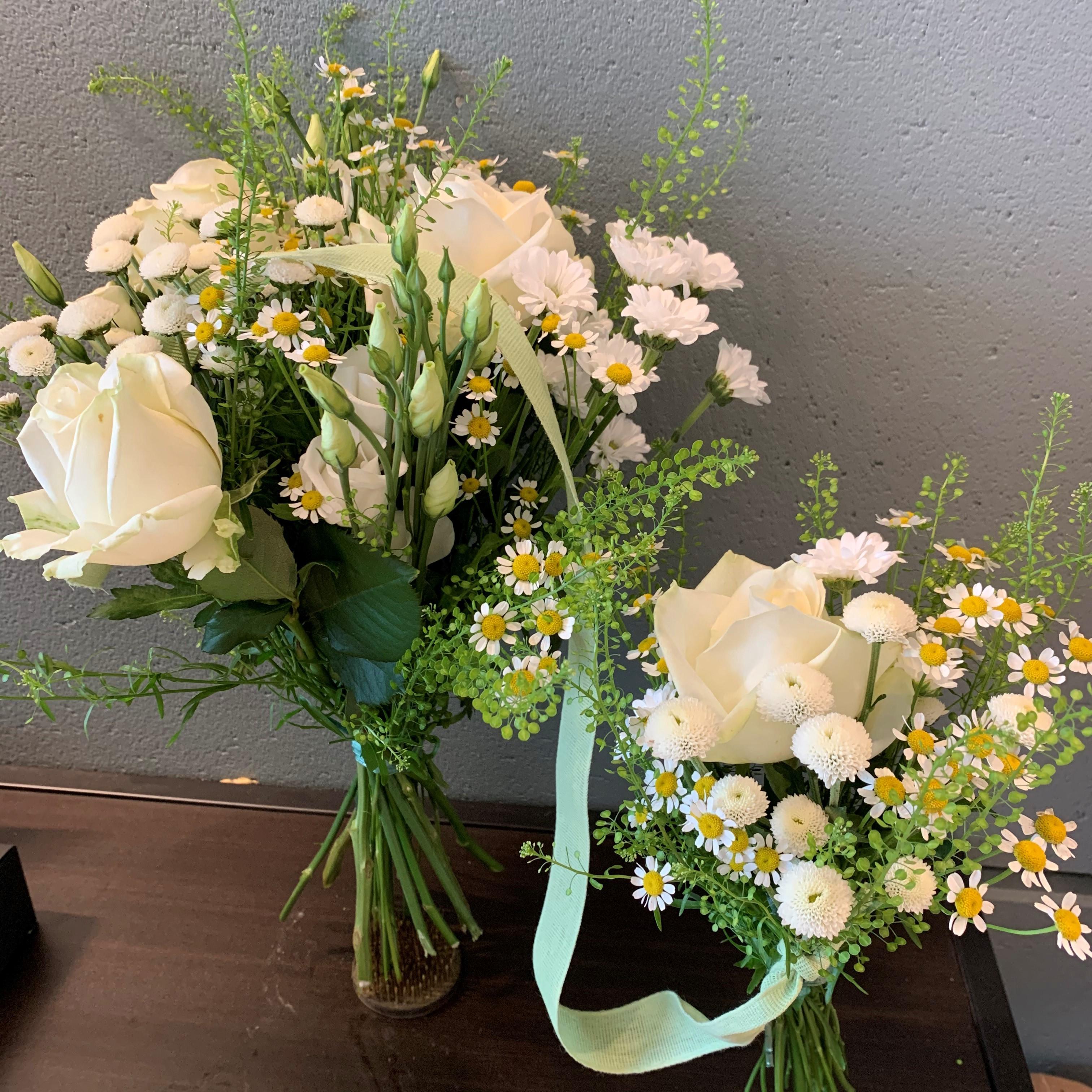 Floristens val - Mor & Barn - Vit/Grön