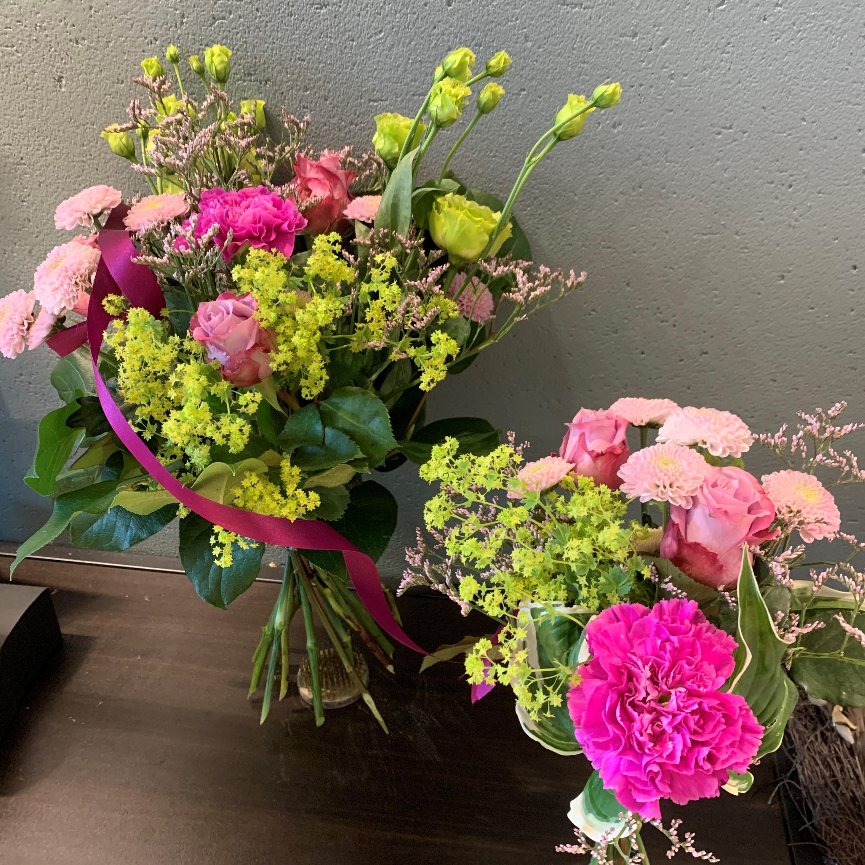 Floristens val - Mor&barn - Rosa/Lime