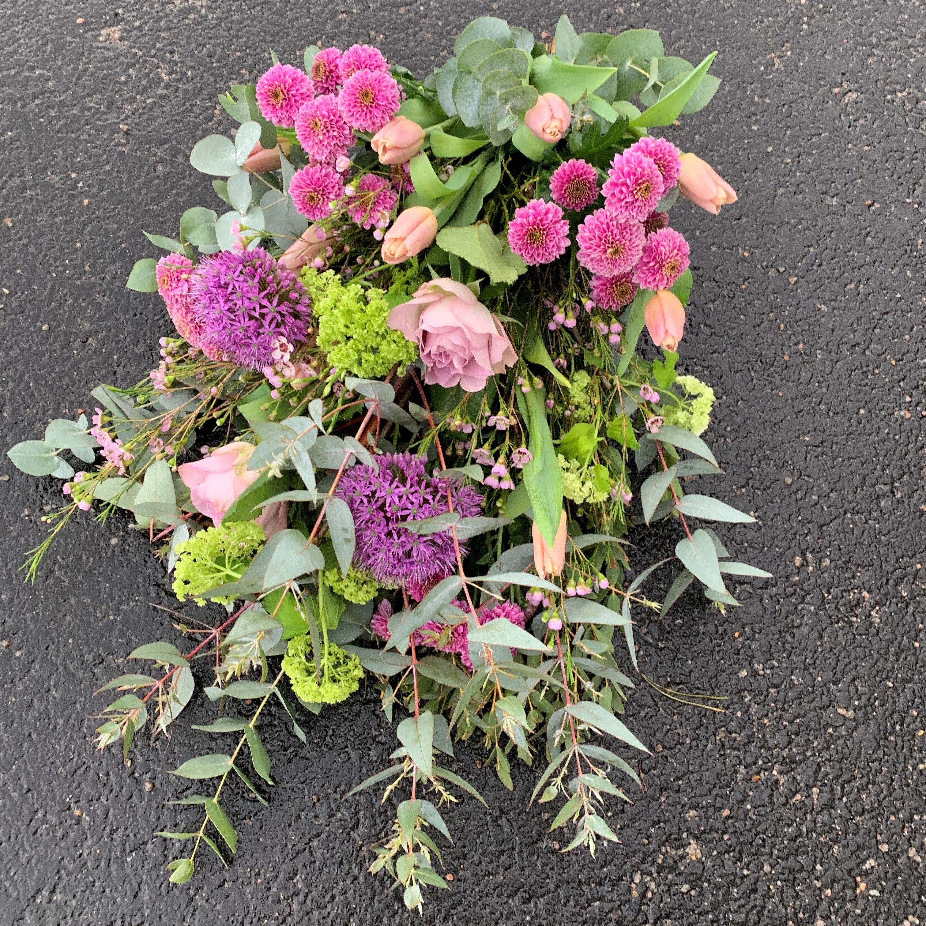Dekoration - Bukett i lila toner