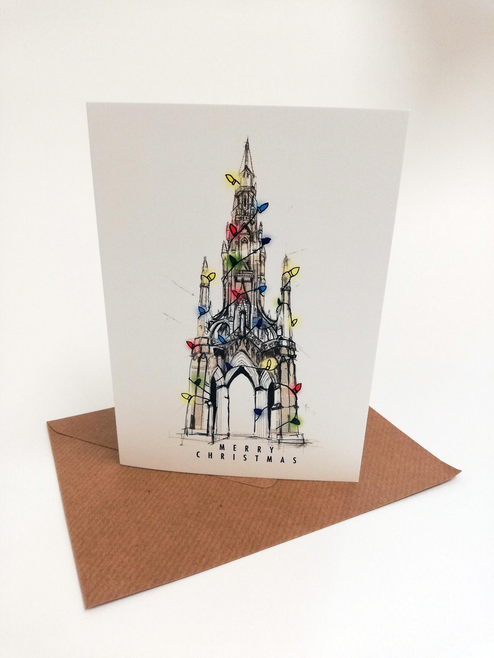 Scott Monument Christmas Card