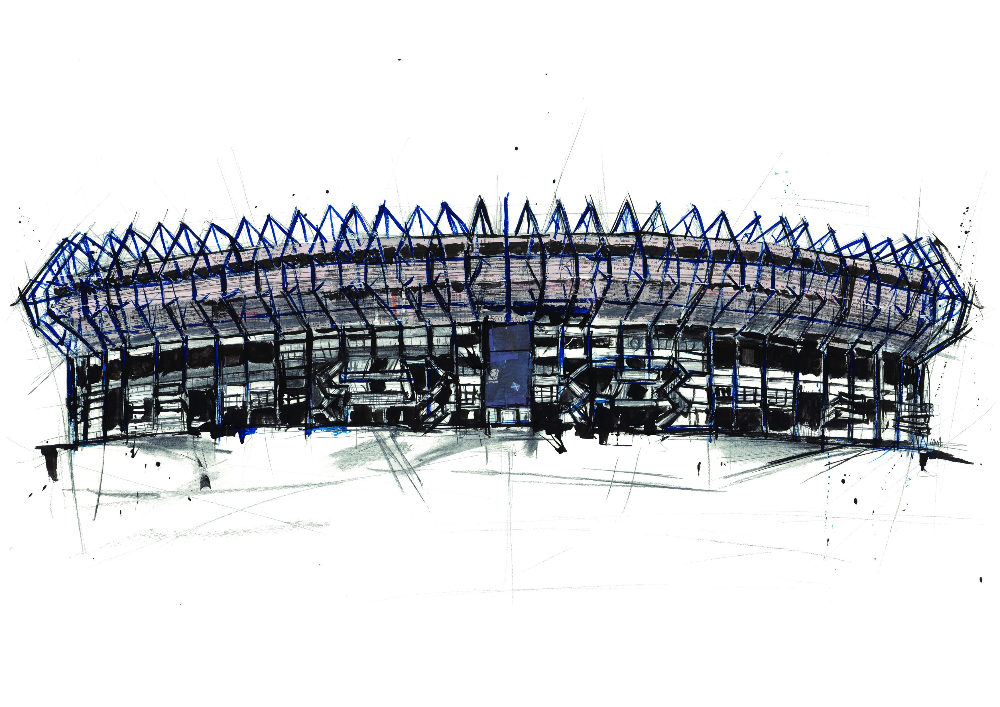Murrayfield Stadium Print