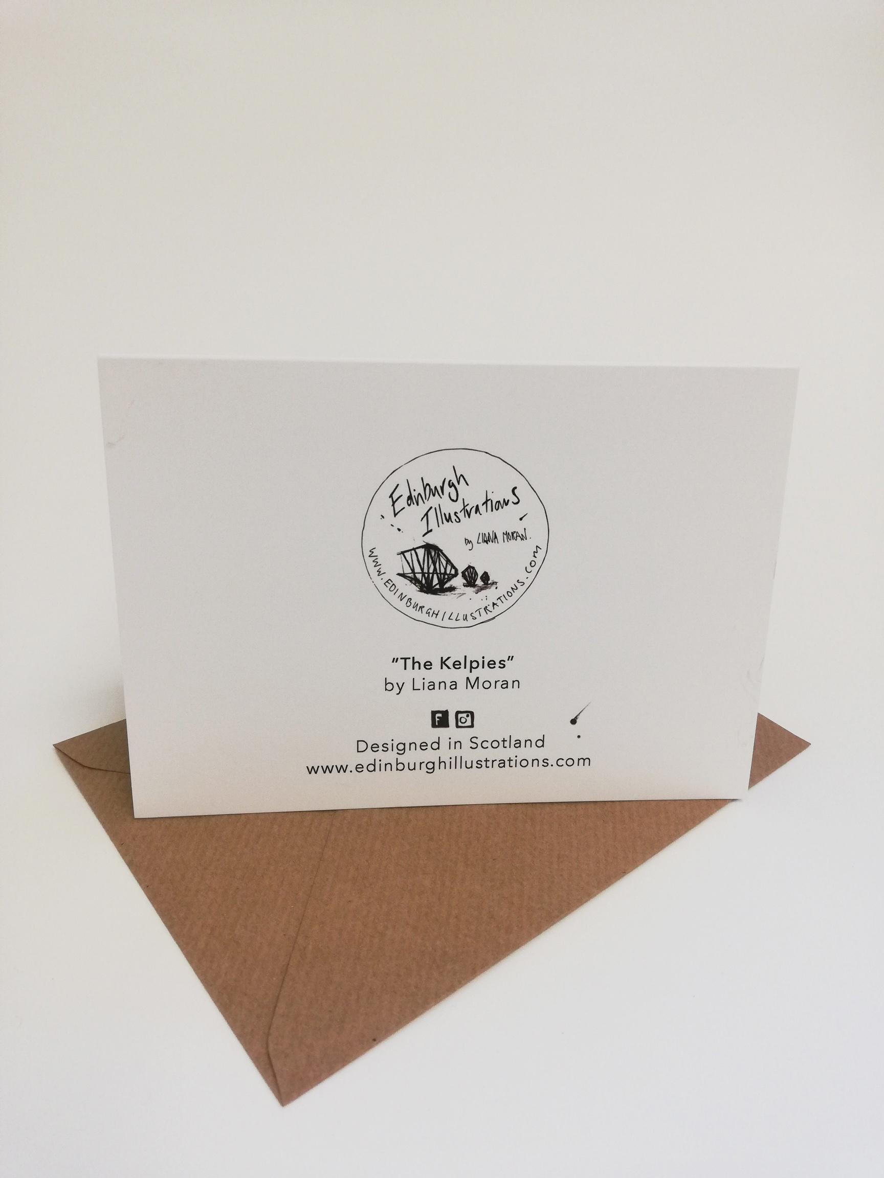 The Kelpies card