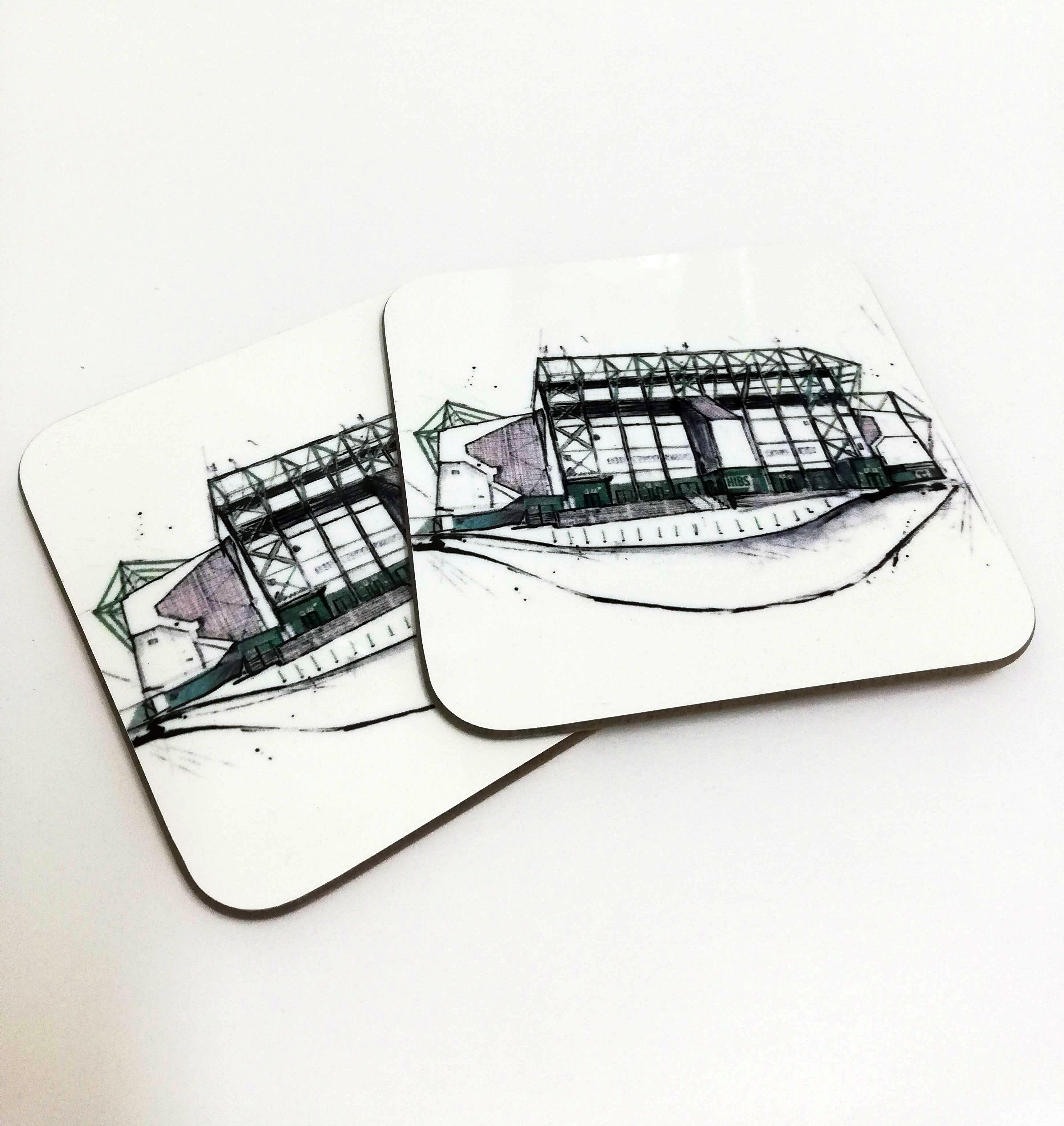 Hibs Stadium Coaster