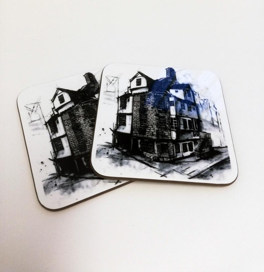 John Knox House Coaster
