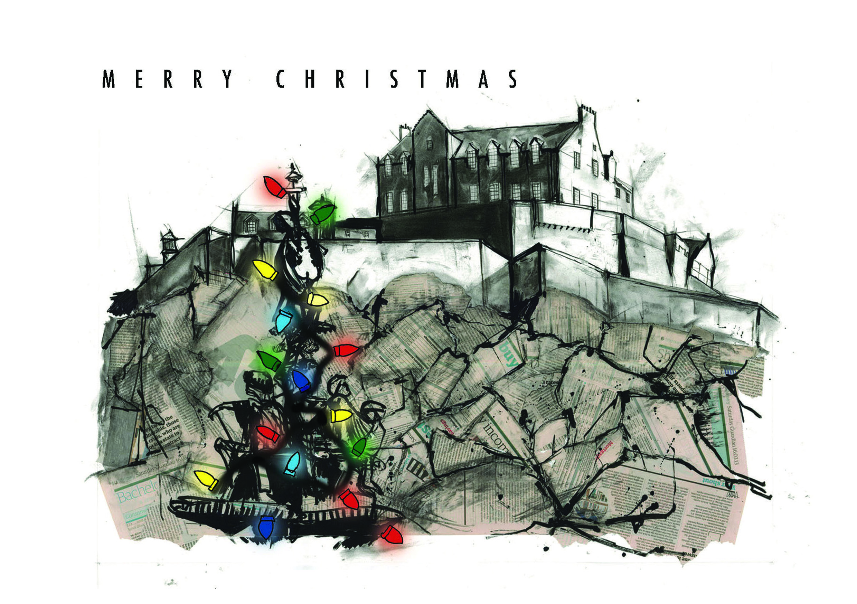 Edinburgh Castle Christmas Card