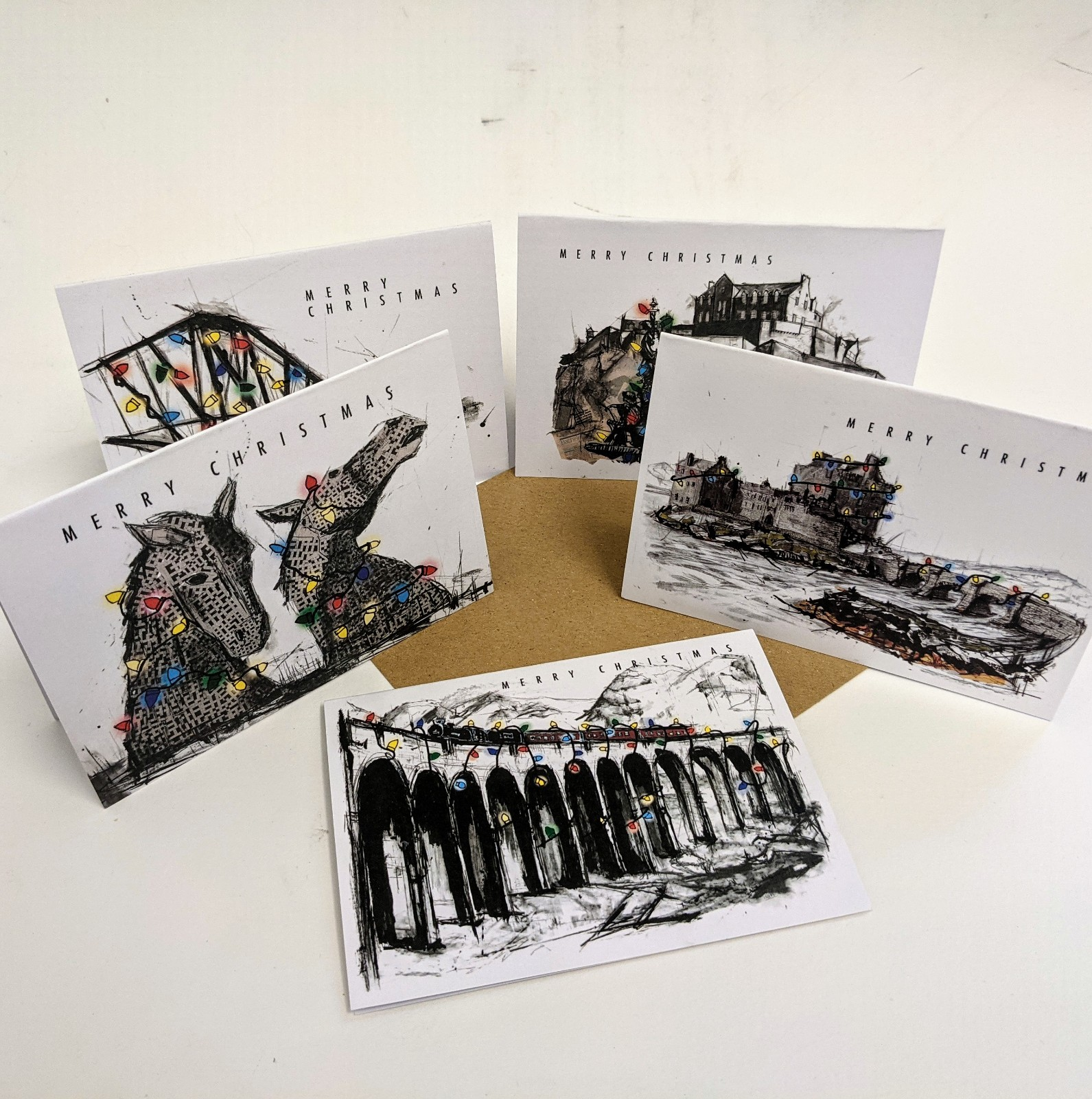 Christmas Cards Pack of 5 Scotland