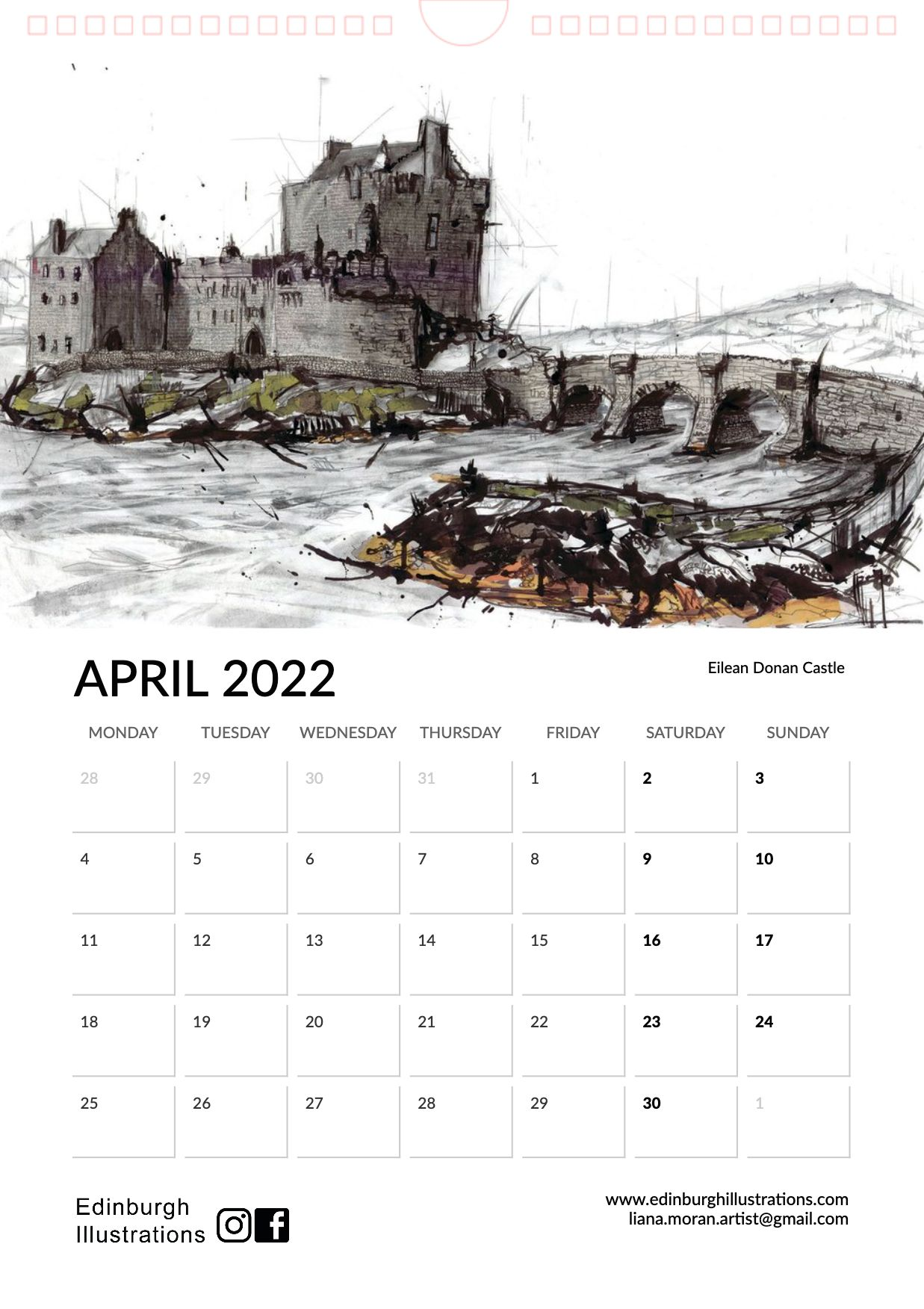 Scotland 2022 Calendar